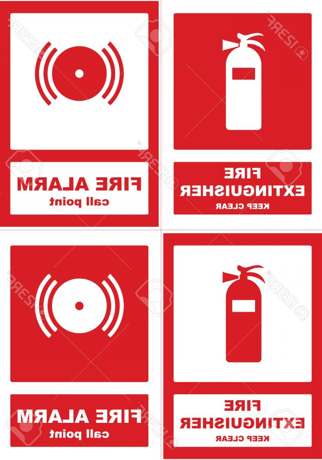 Fire Alarm Vector: Photostock Vector Fire Extenguisher And Fire Alarm Call Point Vector Stiker