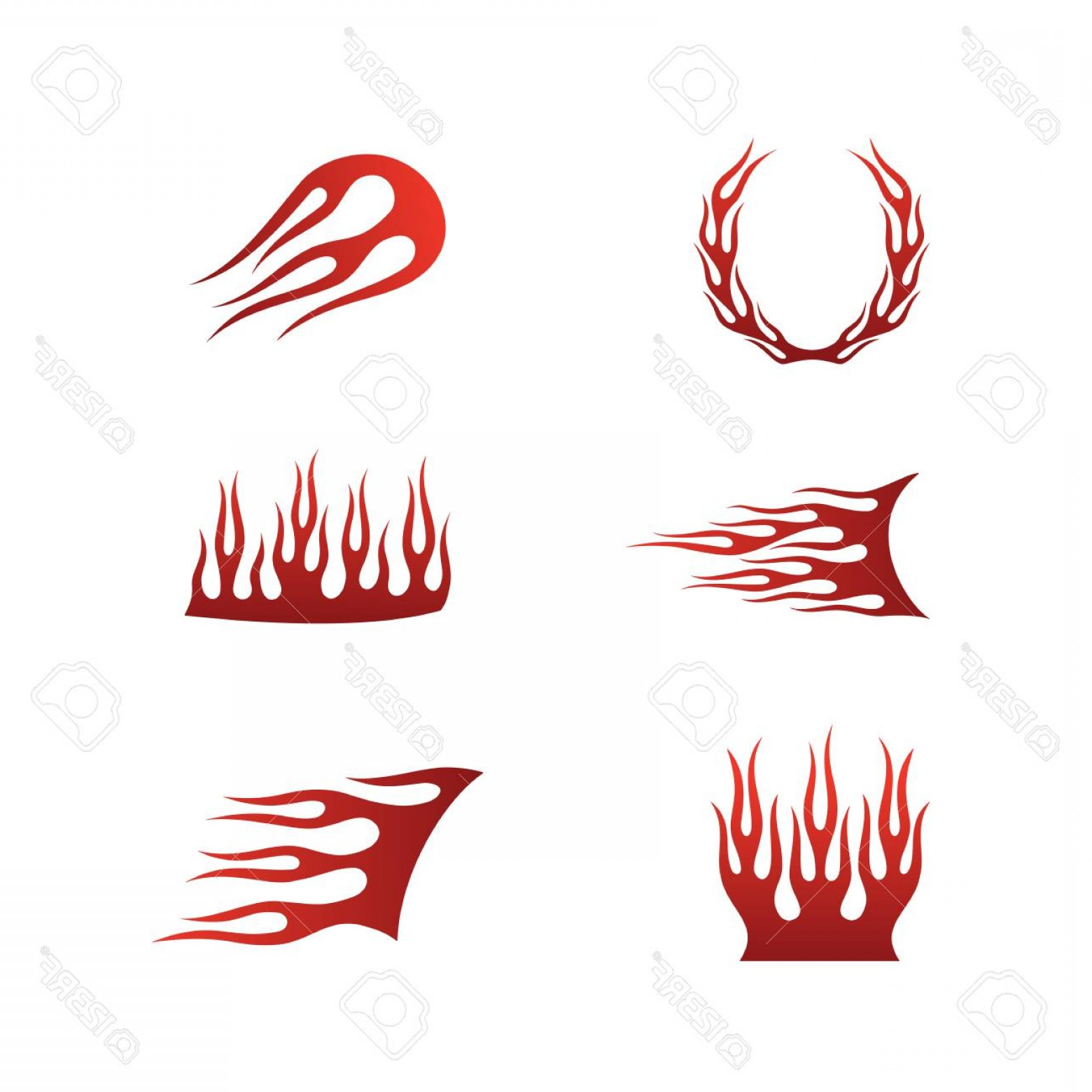 Tribal Flames Vector Car: Photostock Vector Fire Flames In Tribal Style For Tattoo Vehicle And T Shirt Decoration Design Vehicle Graphics Stripe