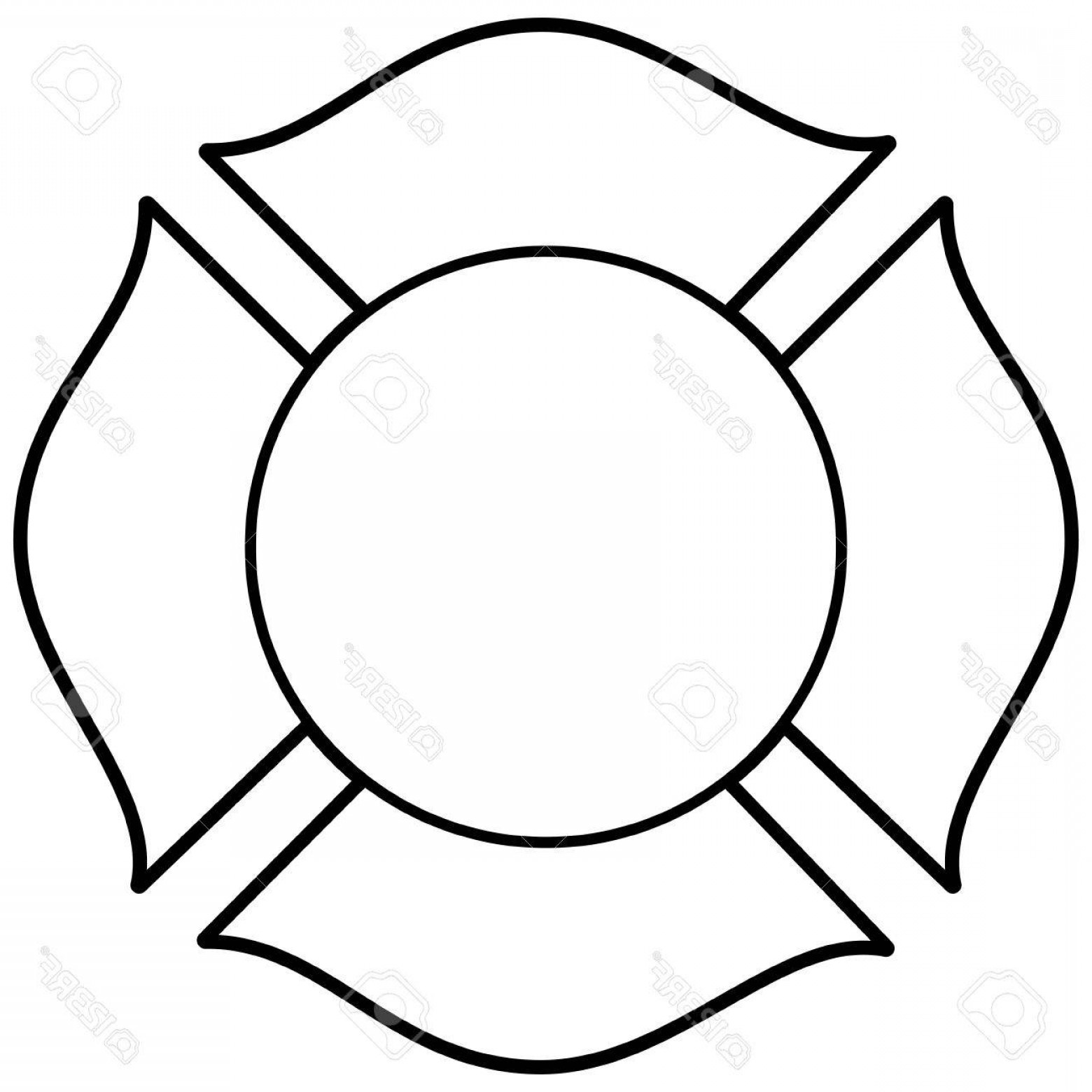 Fire Maltese Vector: Photostock Vector Firefighter Maltese Cross Illustration