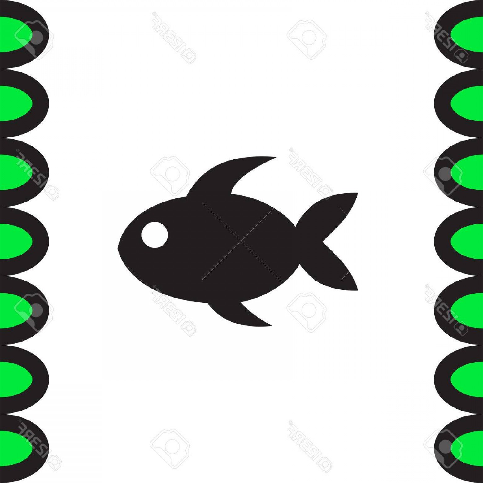 L Unch Icon In Vector: Photostock Vector Fish Icon Vector Snacks Sign Lunch Symbol