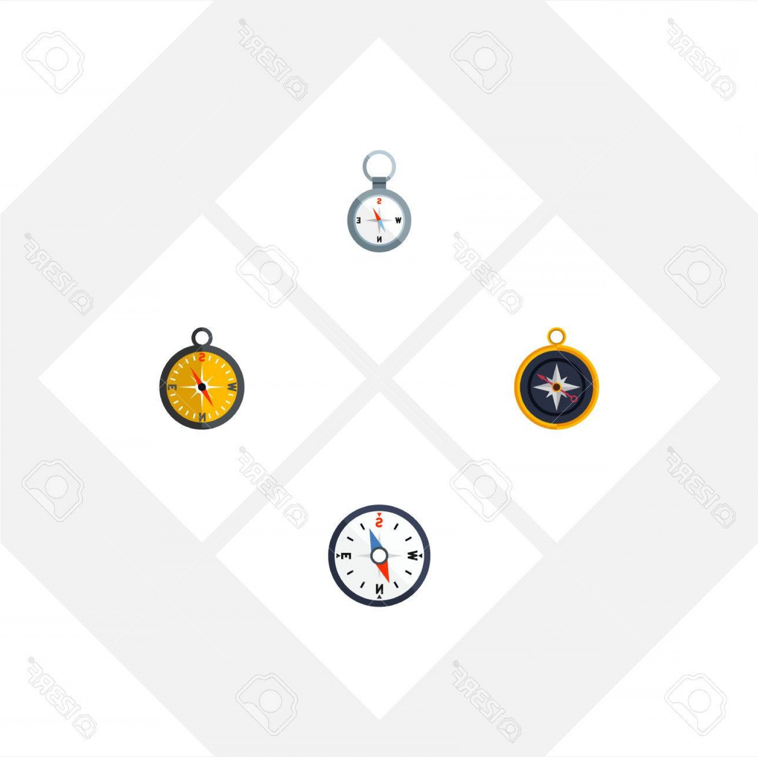 Measurement And Direction Vector: Photostock Vector Flat Icon Compass Set Of Divider Compass Direction And Other Vector Objects Also Includes Measuremen