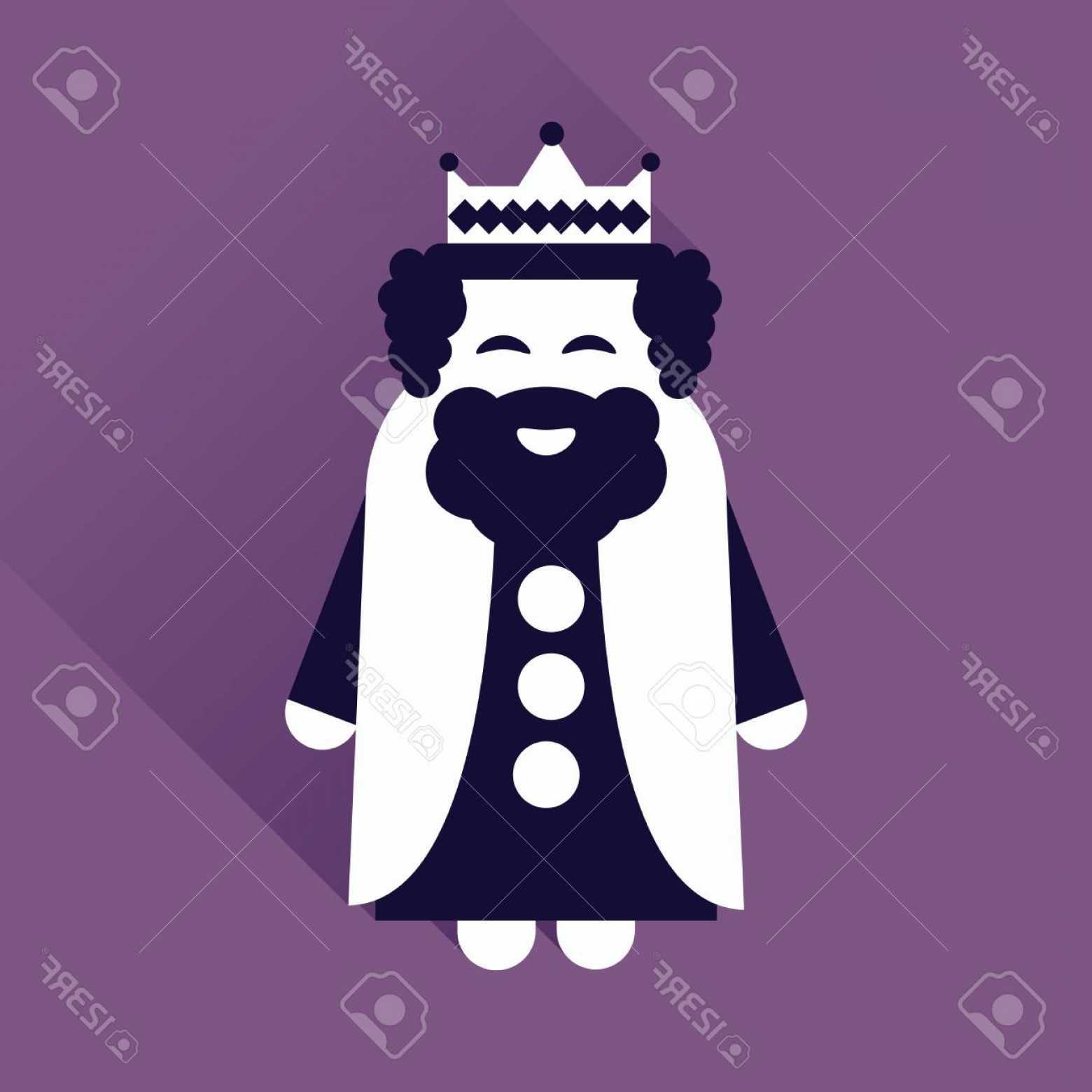 King Sombra Vector: Photostock Vector Flat Icon With Long Shadow Medieval King