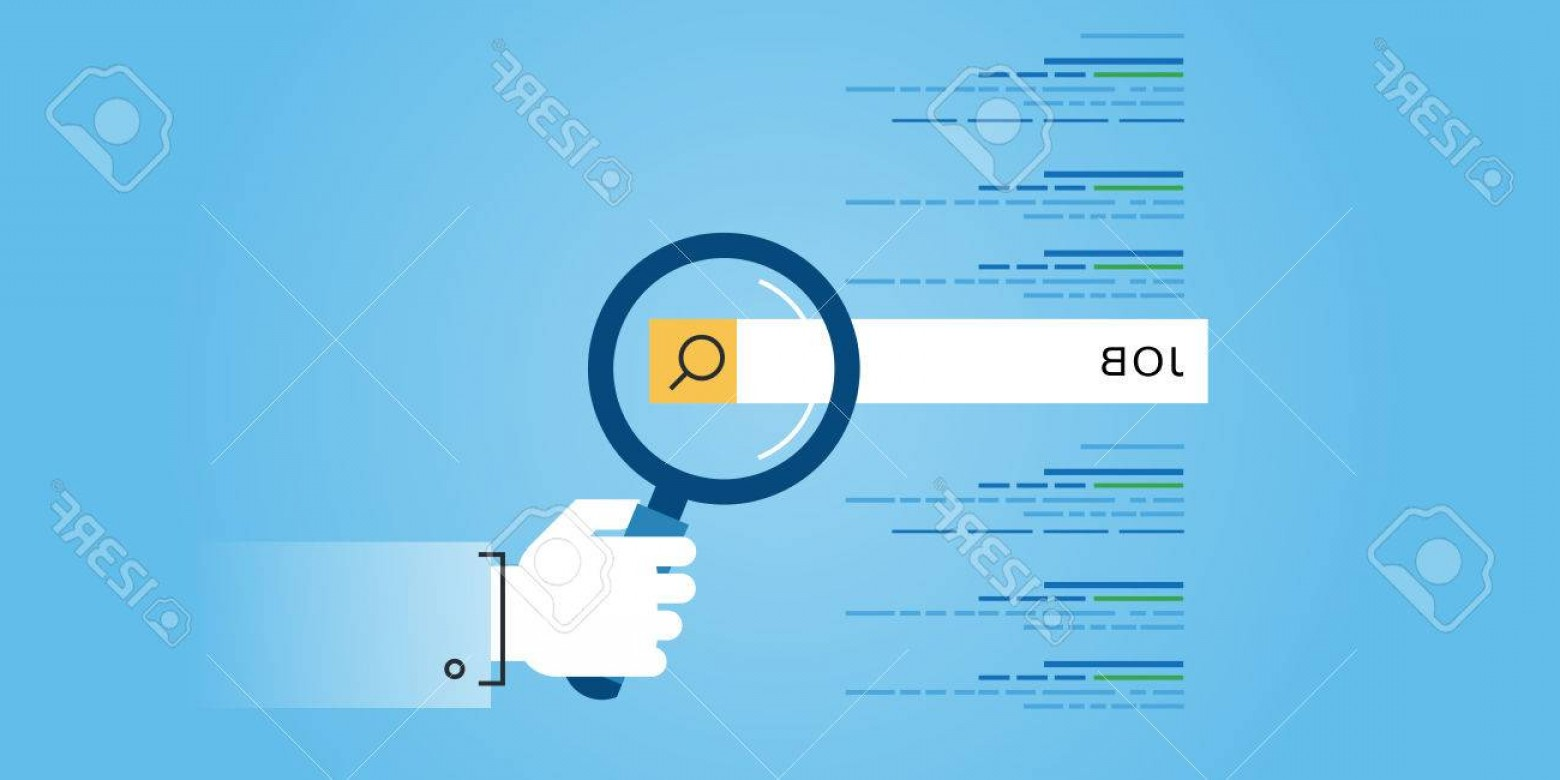 Vector Job Opportunities: Photostock Vector Flat Line Design Website Banner Of Job Searches Career Employment Opportunities Human Resources Mode