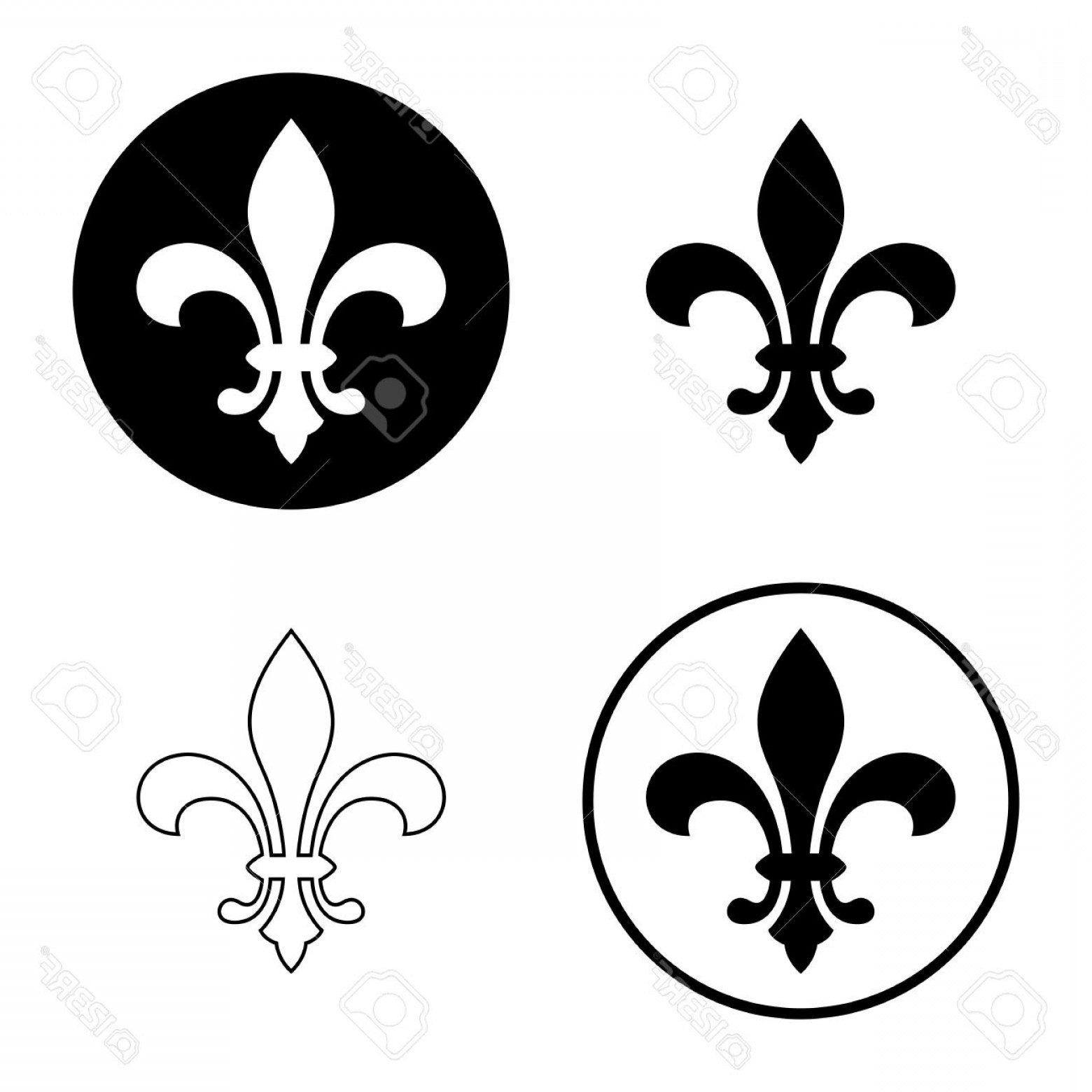 Photostock vector fleur de lis or lily flower icon set royal french icon of flower vectors photostock vector fleur de lis or lily flower icon set royal izmirmasajfo