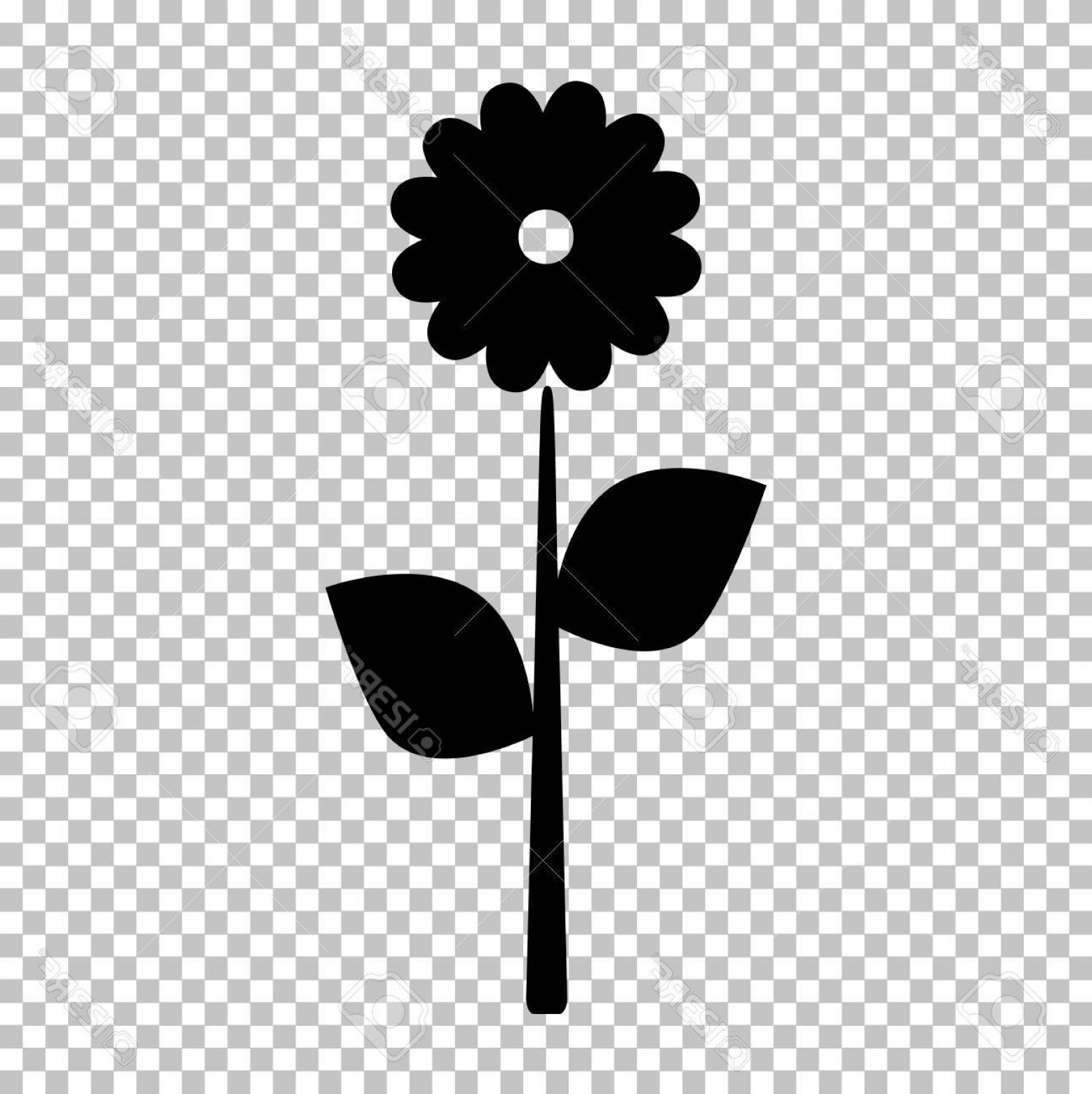 Icon Of Flower Vectors: Photostock Vector Flower Sign Flat Style Icon On Transparent Background