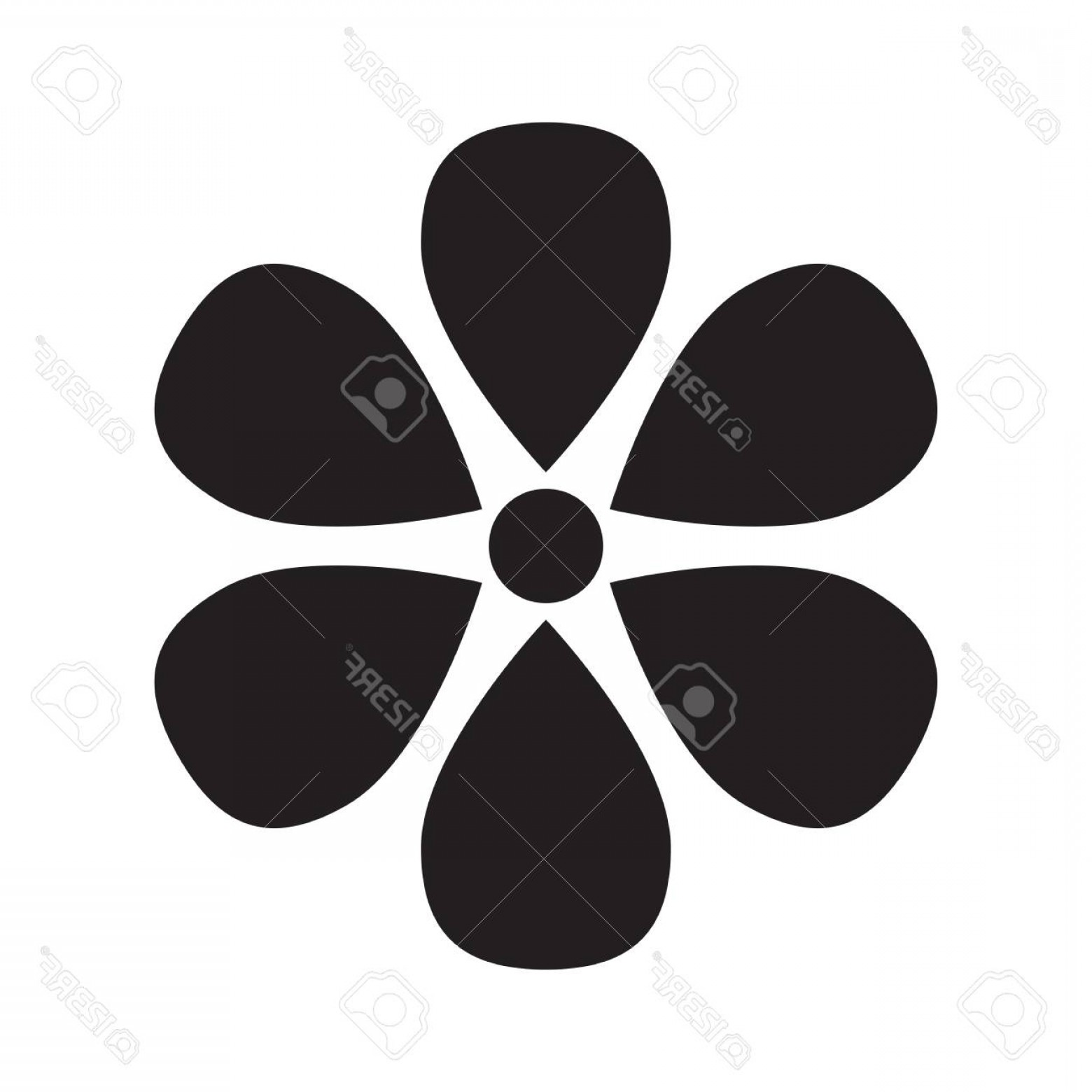 Icon Of Flower Vectors: Photostock Vector Flower Vector Icon Template Pictogram Modern Emblem For Shop Market Internet Decoration Design Trend