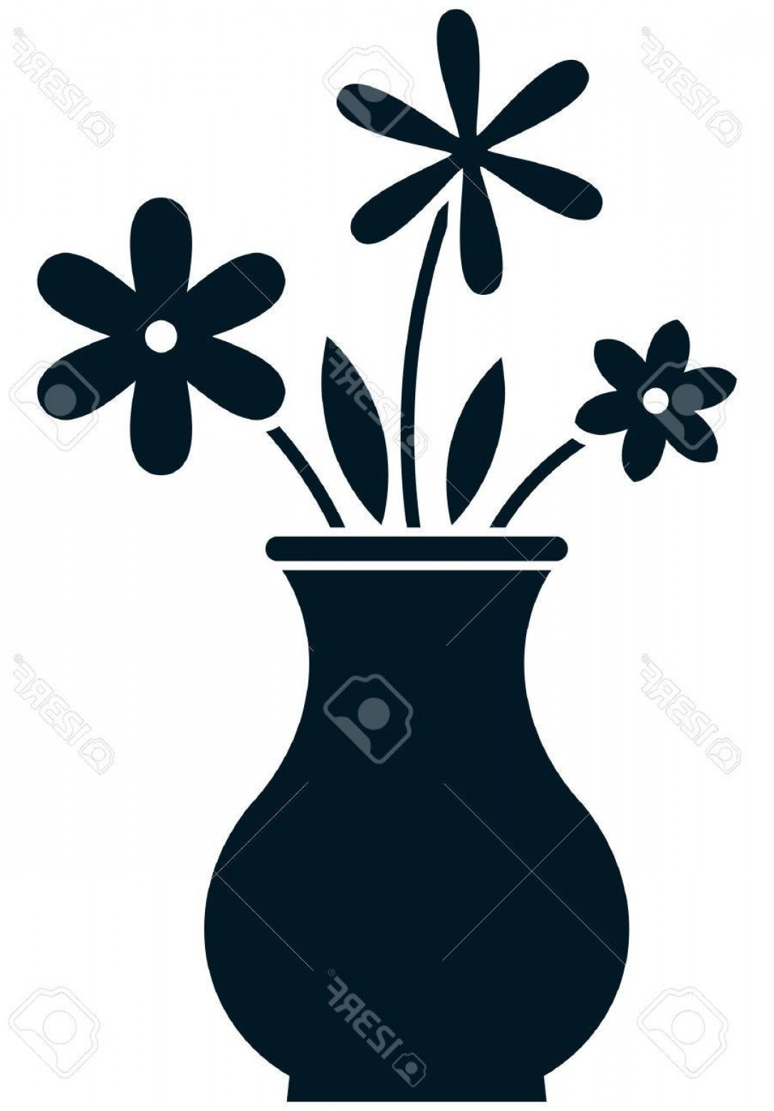 Vector Art Flowers In Vace: Photostock Vector Flowers Bunch In Vase Vector Illustration Isolated