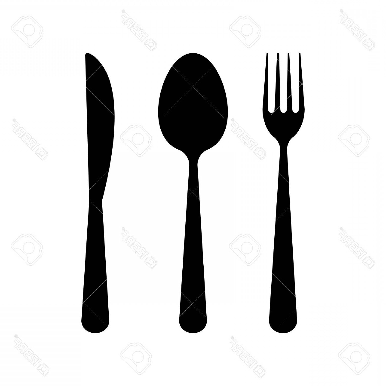 Modern Knife Fork And Spoon Vector Logo: Photostock Vector Fork Spoon And Knife Vector Design Illustration Isolated On White Background