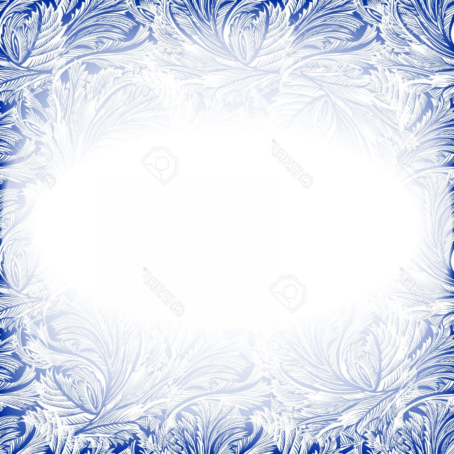 Frost Border Vector: Photostock Vector Frame Frozen Glass Decor Winter Holiday Blue Frost Background Blue Cyan And White Design Banner With