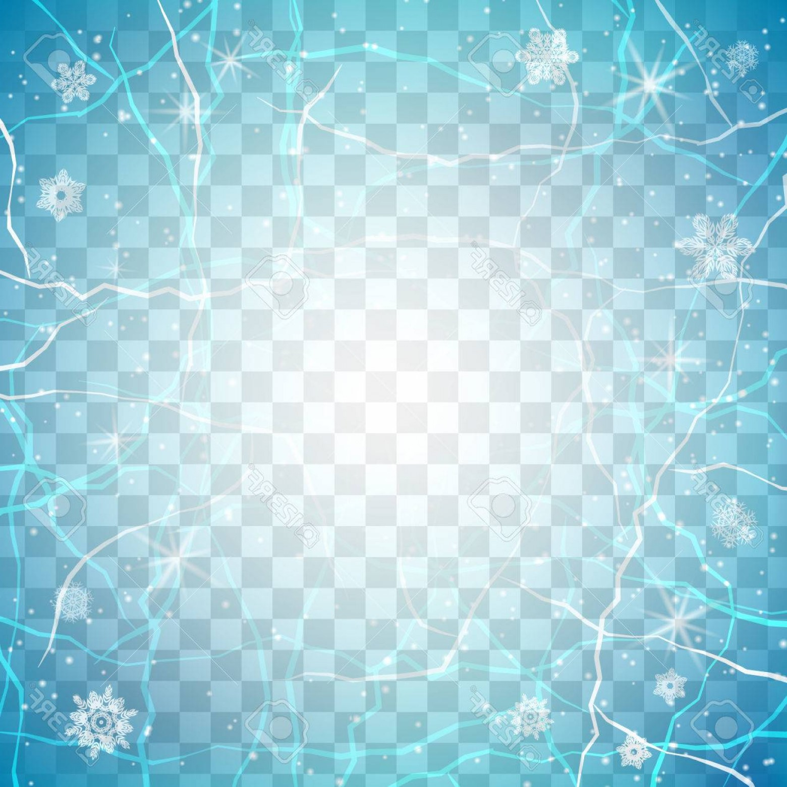 Frost Border Vector: Photostock Vector Frame Of Ice On Transparent Background Winter Frame Christmas Background Vector Illustration