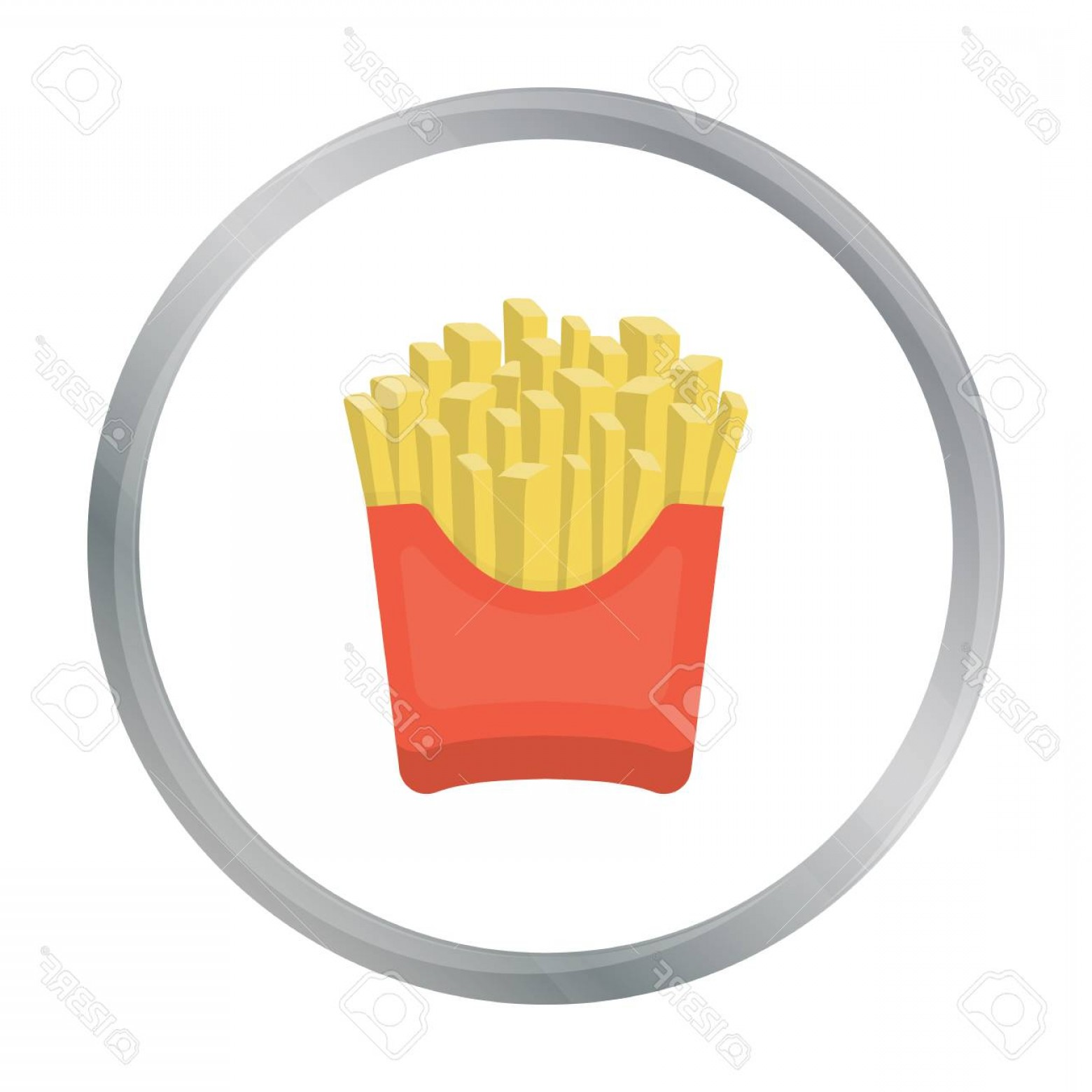 Fries Vector: Photostock Vector French Fries Vector Icon In Cartoon Style For Web