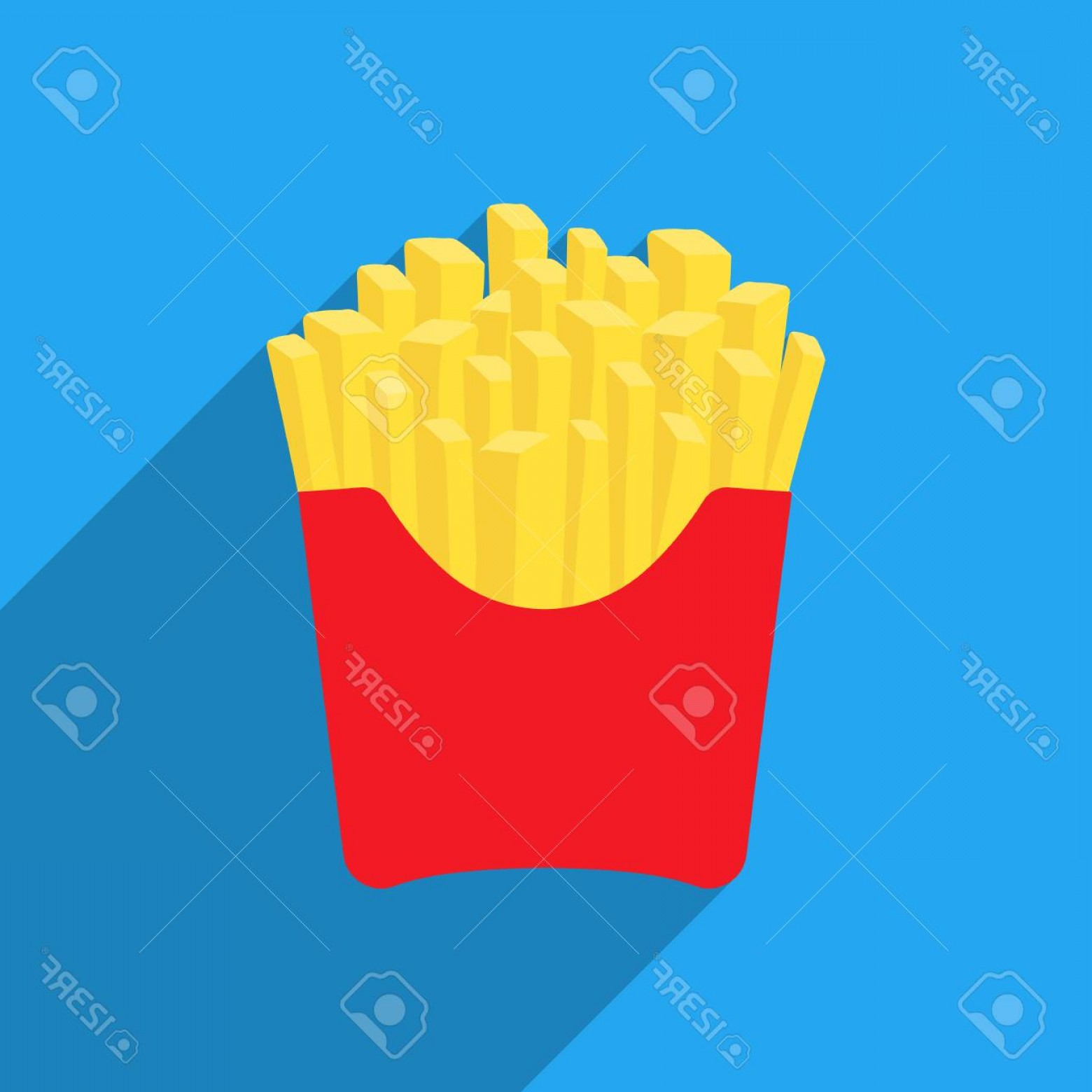 Fries Vector: Photostock Vector French Fries Vector Illustration Icon In Flat Design