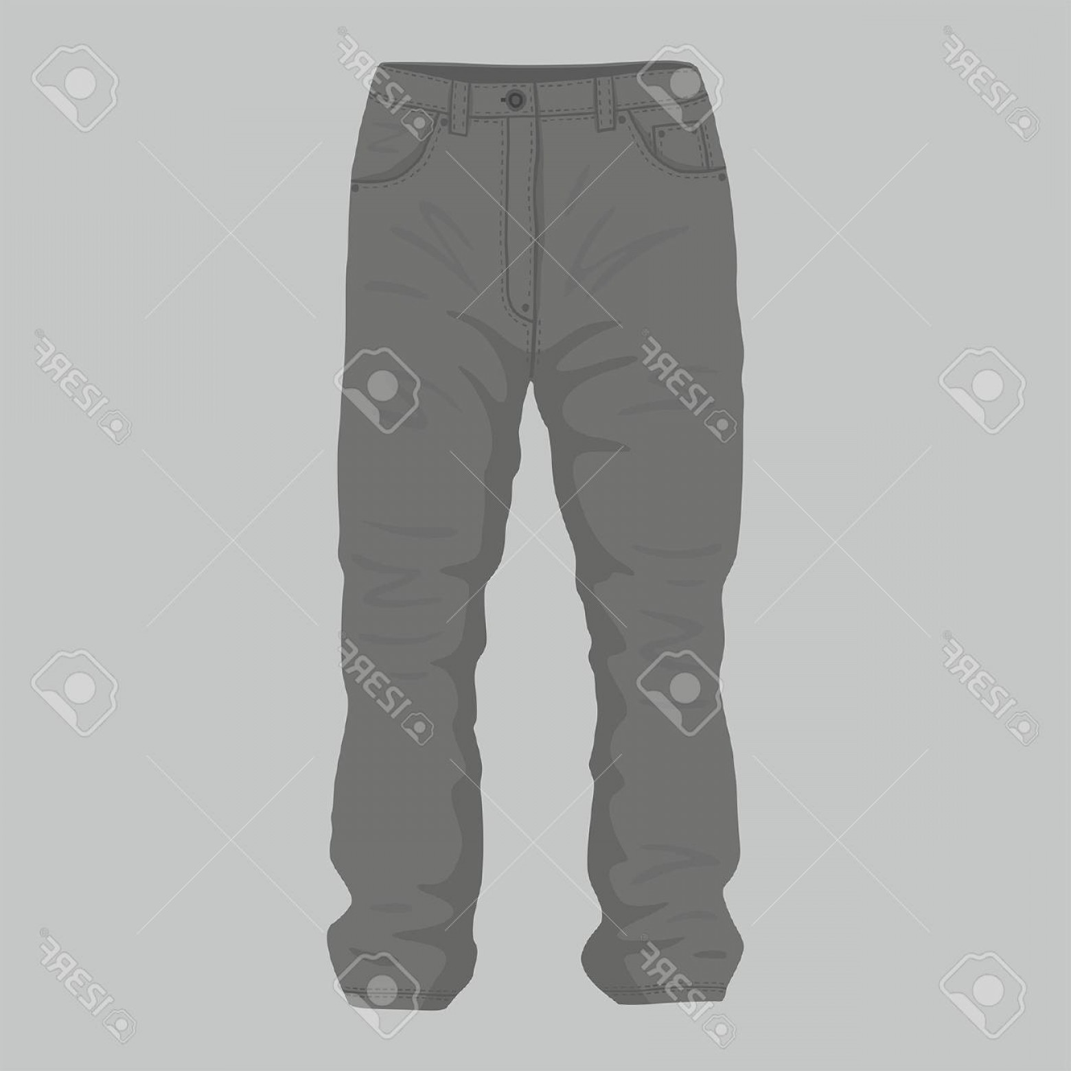 Vector Black Jeans: Photostock Vector Front Views Of Men S Black Jeans On Gray Background