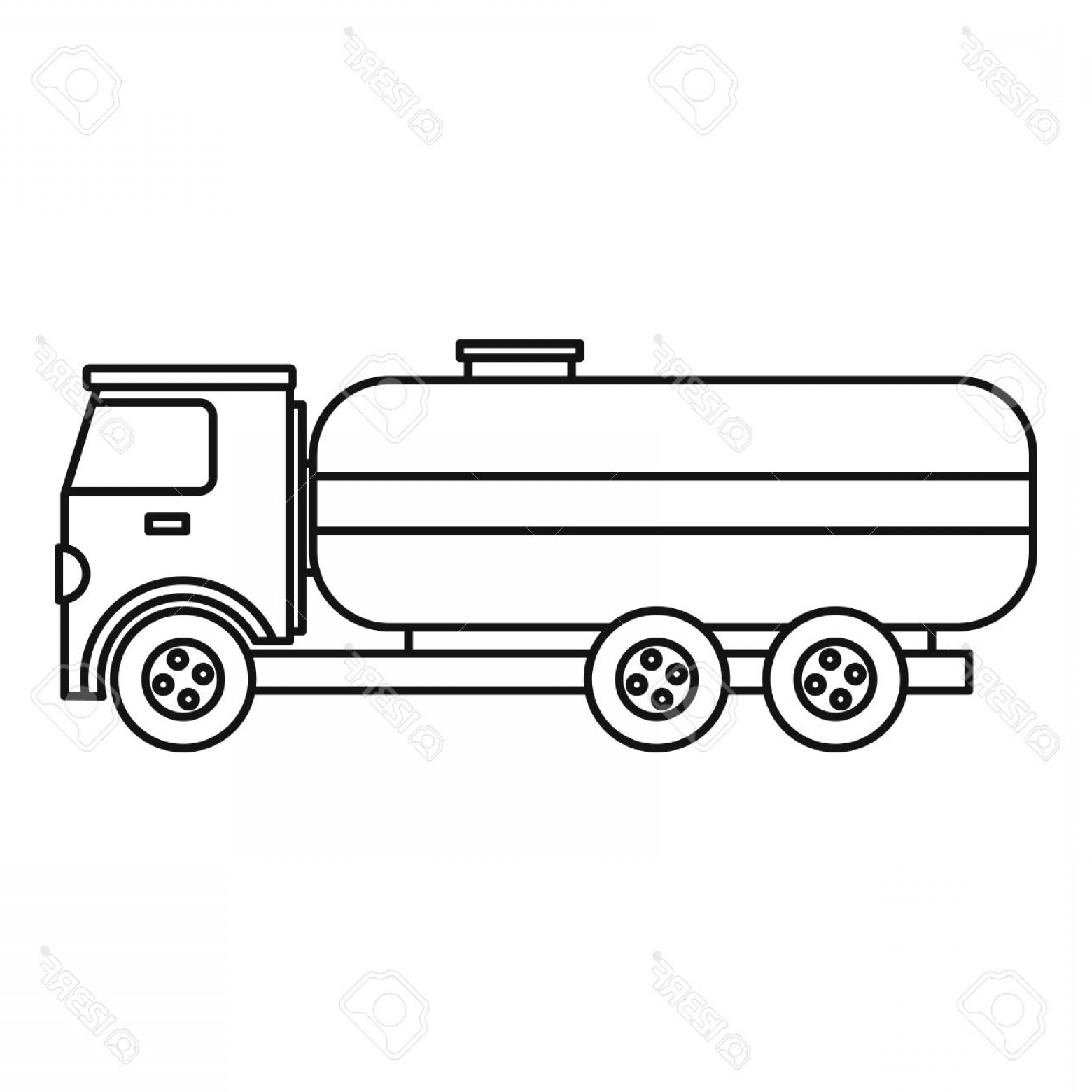 Tank Trucks Vector Art: Photostock Vector Fuel Tanker Truck Icon Outline Illustration Of Fuel Tanker Truck Vector Icon For Webicon Outline Ill