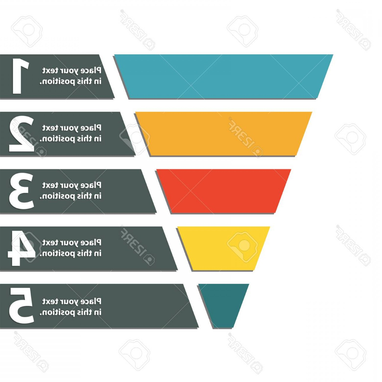Vector Funnel Infographic: Photostock Vector Funnel Symbol Infographic Or Web Design Element Template For Marketing Conversion Or Sales Colorful