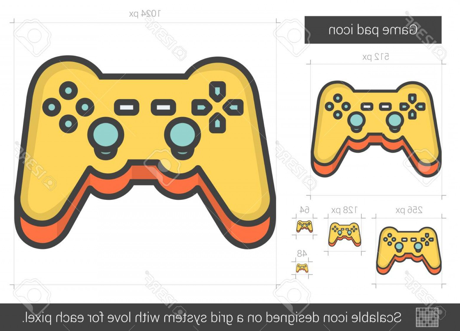 Xbox Game Controller Vector: Photostock Vector Game Pad Vector Line Icon Isolated On White Background Game Pad Line Icon For Infographic Website Or