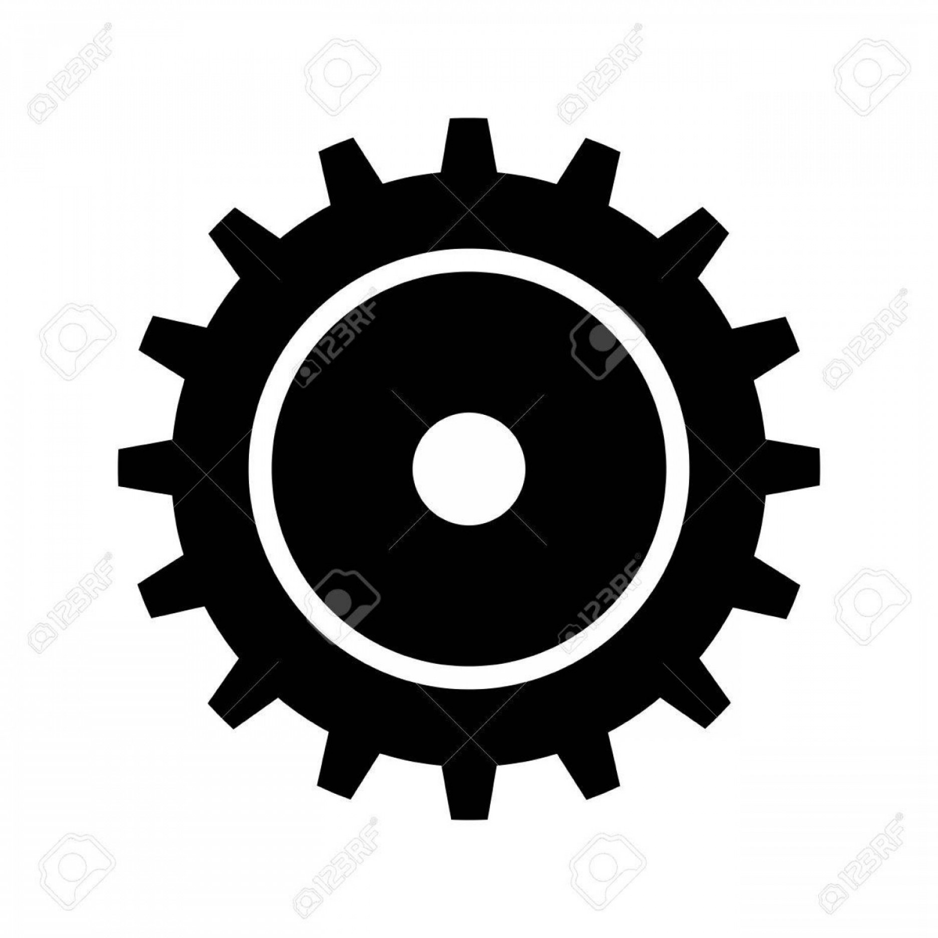 Vector Gear Graphics: Photostock Vector Gear Cogwheel Device Mechanical Power Transmission Silhouette Vector Illustration