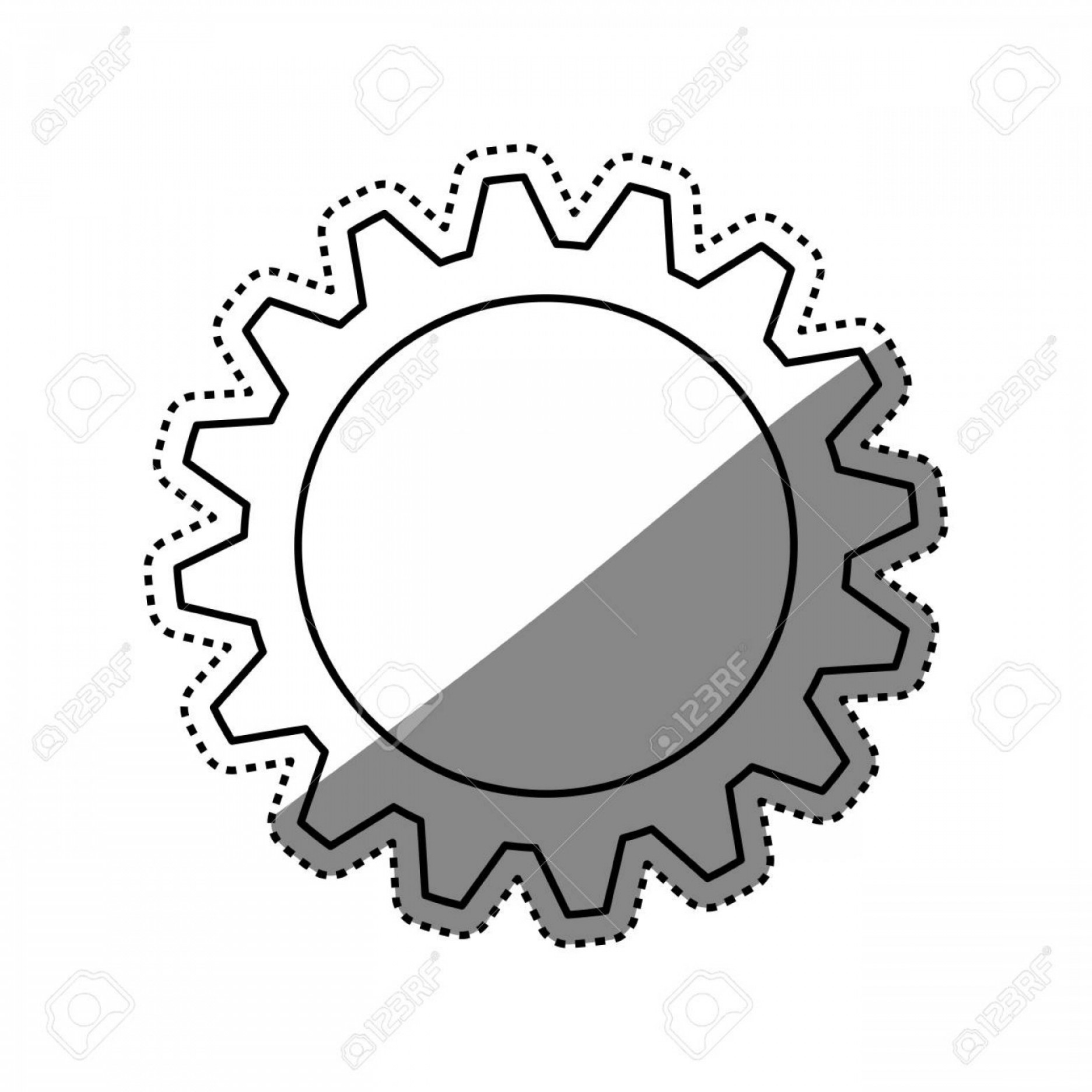 Vector Gear Graphics: Photostock Vector Gear Machinery Piece Icon Vector Illustration Graphic Design