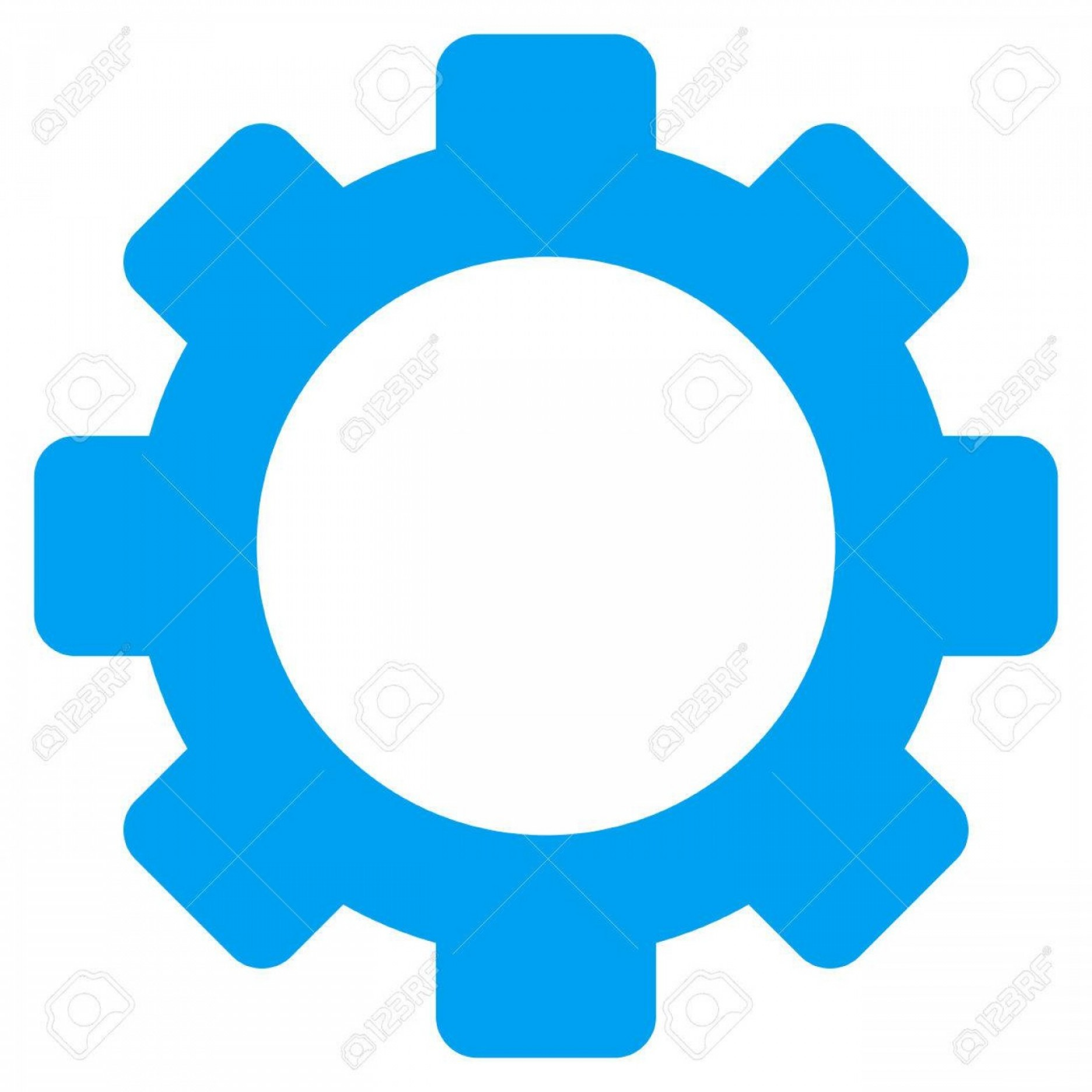 Vector Gear Graphics: Photostock Vector Gear Vector Pictograph Style Is Flat Graphic Symbol Blue Color White Background