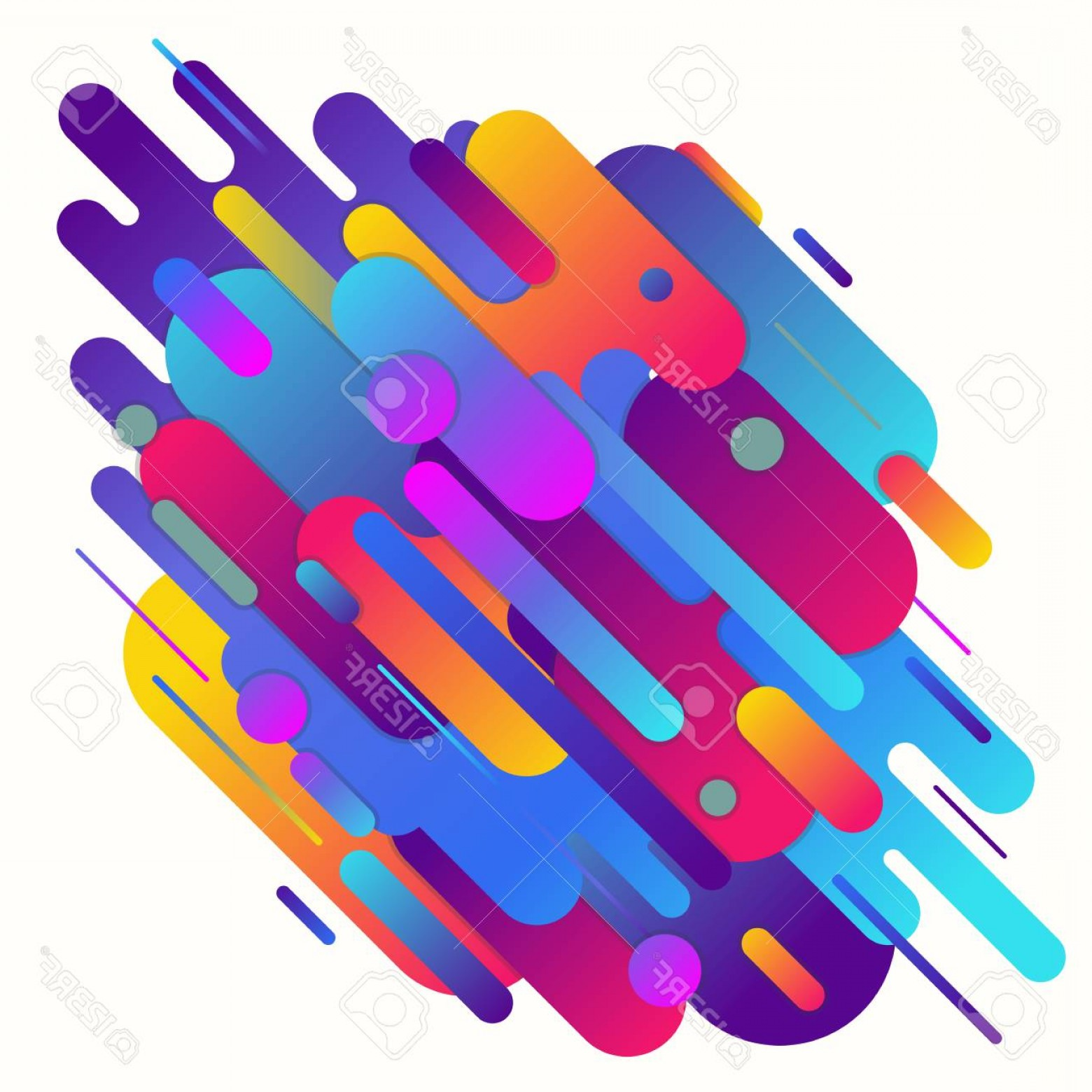 Vector Geometric Abstract Shapes Phone Wallpapers: Photostock Vector Geometric Abstract Gradient Vector Background Geometric Shapes With Gradients And Rounded Corners Di