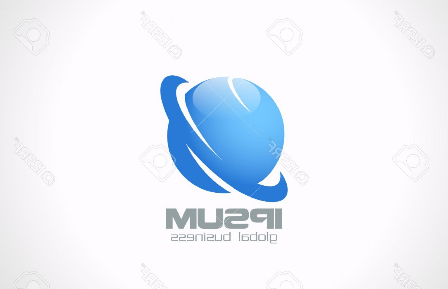 BBB Accredited Business Logo Vector: Photostock Vector Global Corporate Business Abstract Vector Logo Design Template Jupiter Earth Planets Symbol Technolo