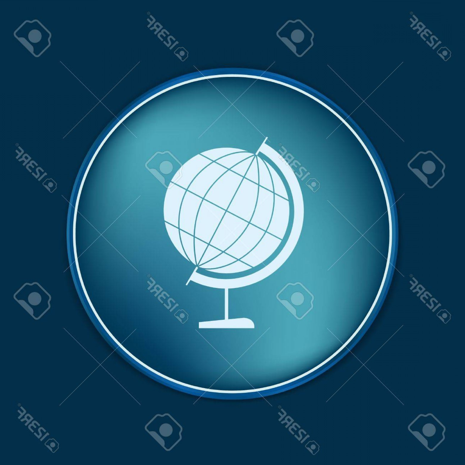 Vector Globe Countries: Photostock Vector Globe Symbol Of Geography Symbol Icon Geography The Study Of The World And The Countries On The Plan