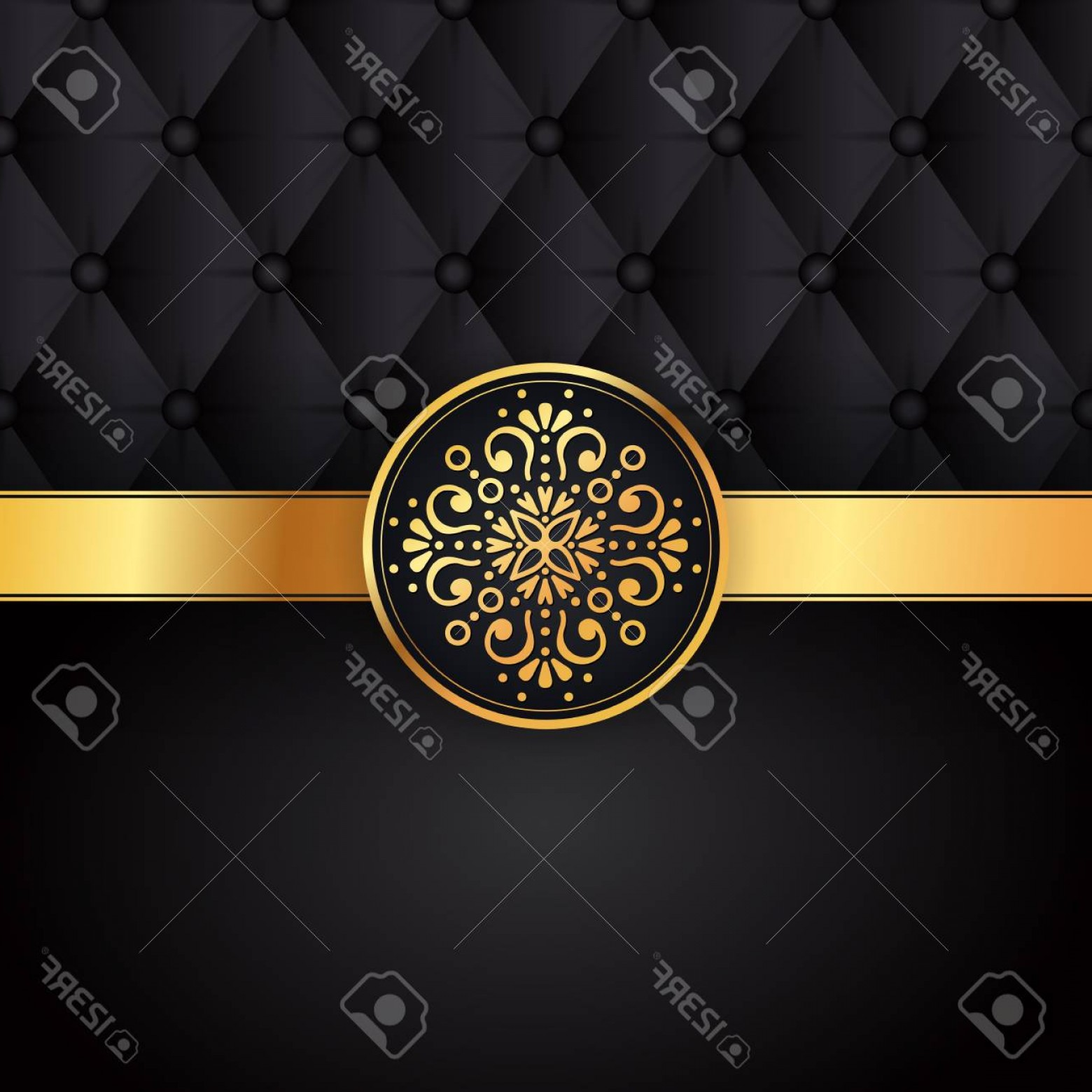 Christian Vector Sun: Photostock Vector Gold Black Background Design Vector Sun Indian Pattern Eye Peacock Feather Frame Oriental Mandala Sw