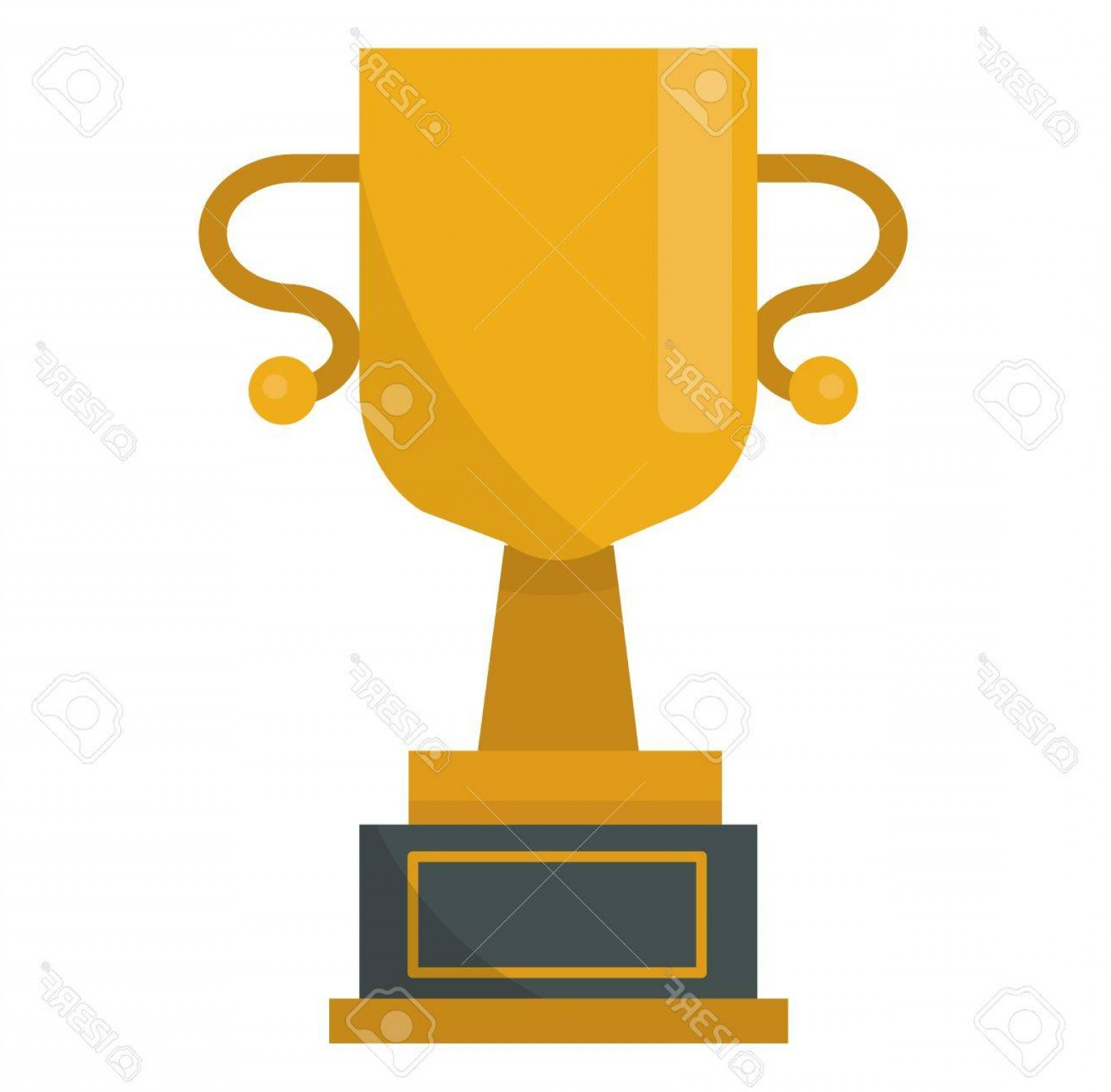 Gold Trophy Vector: Photostock Vector Gold Cup Trophy Vector Illustration Gold Cup Achievement Success Golden Award And Champion Object Me