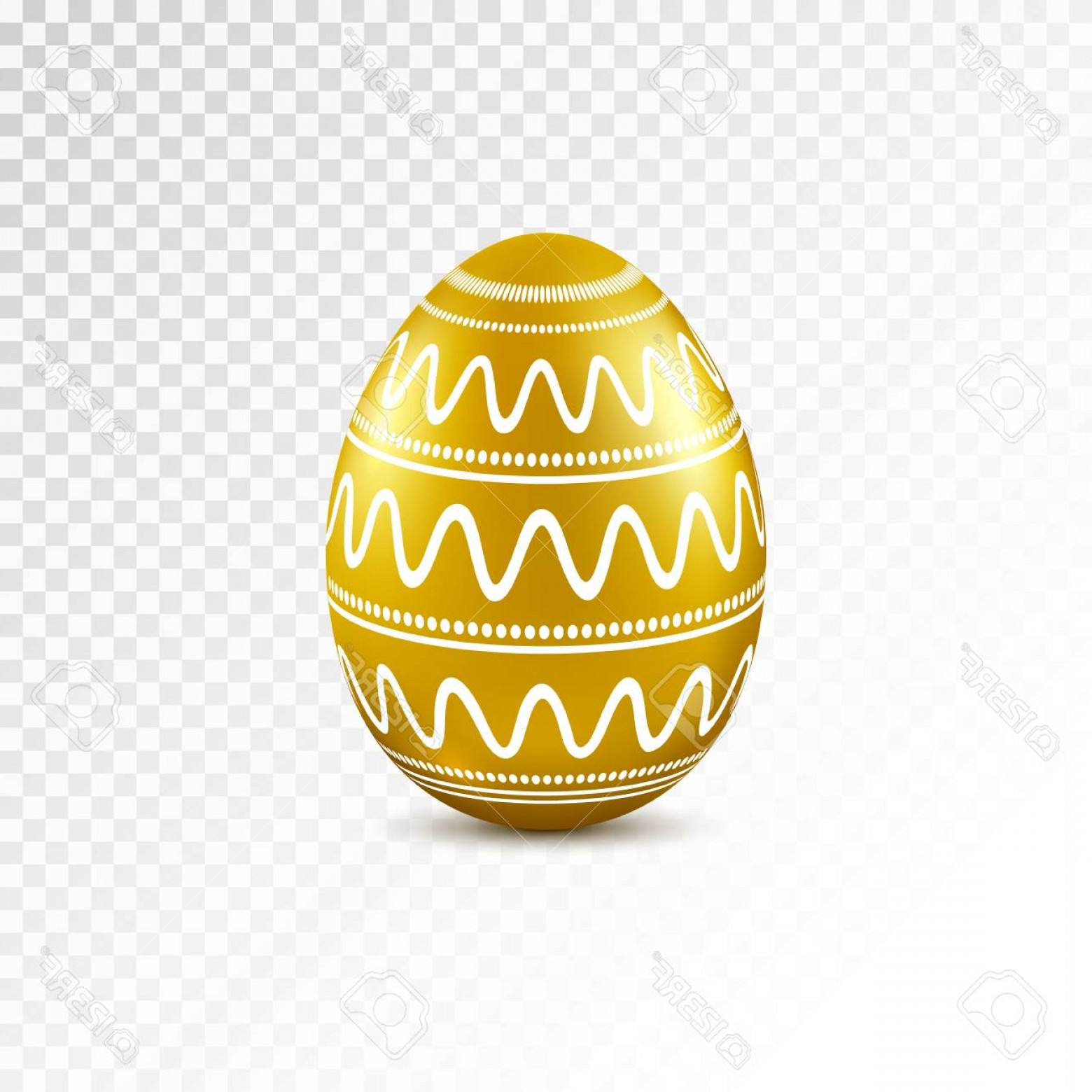 Easter Vector Art No Background: Photostock Vector Gold Easter Egg With Geometric Pattern Isolated On Transparent Background Vector Illustration