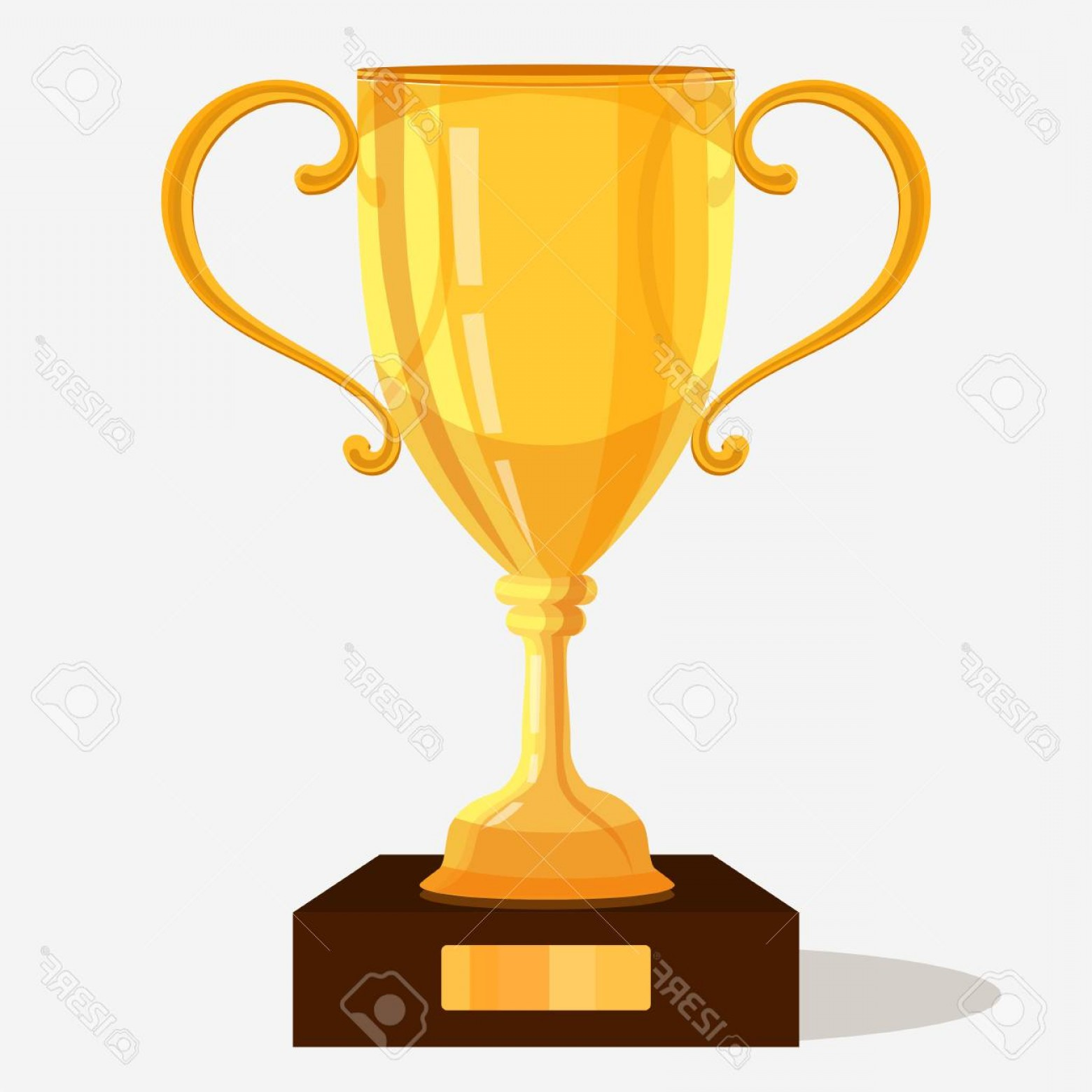 Gold Trophy Vector: Photostock Vector Gold Trophy Cup Shiny Isometric Illustration Of Golden Winner Trophy Vector