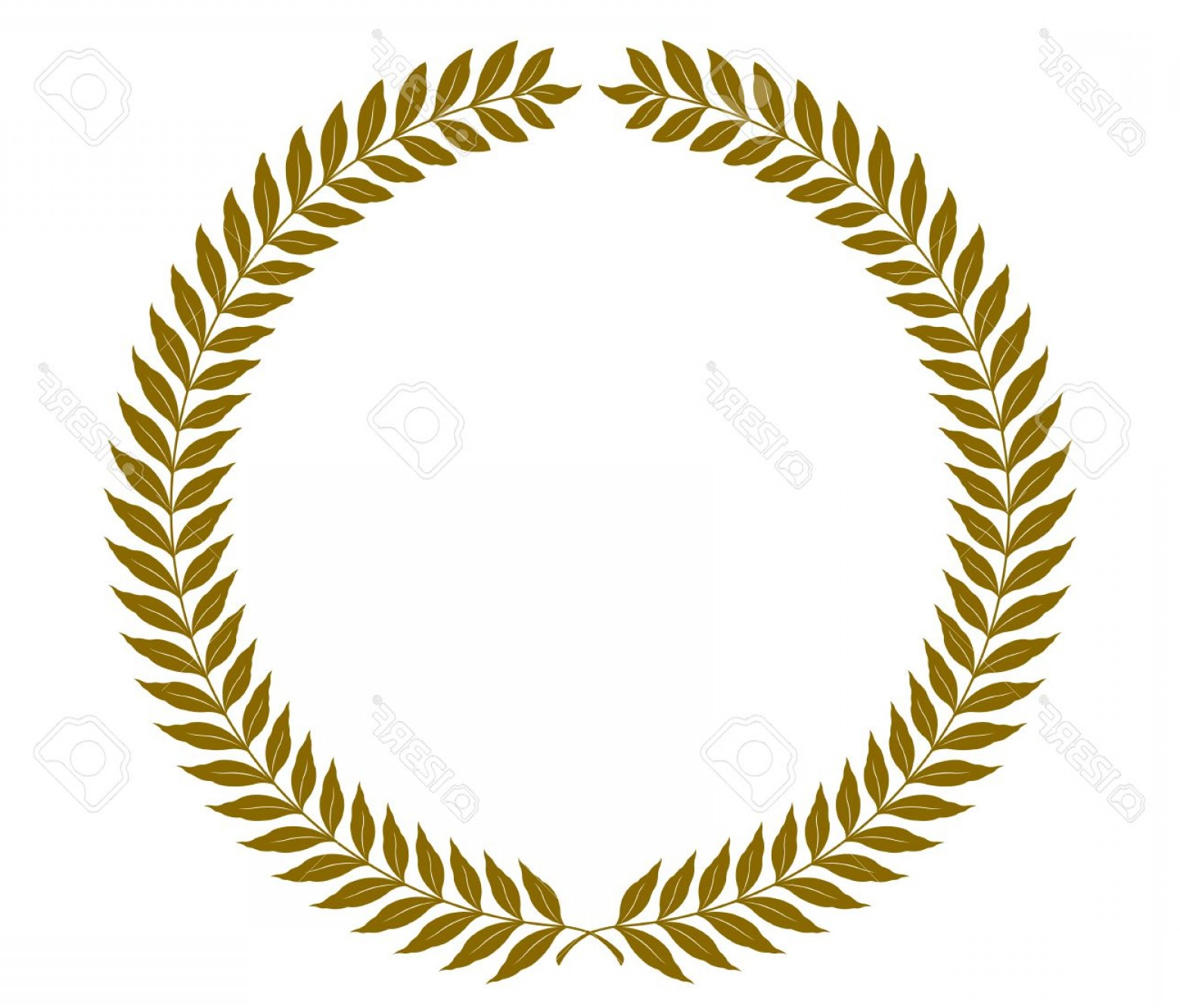 Half Leaf Wreath Vector: Photostock Vector Golden Round Laurel Wreaths Vector Format Fully Editable You Can Change Form And Color