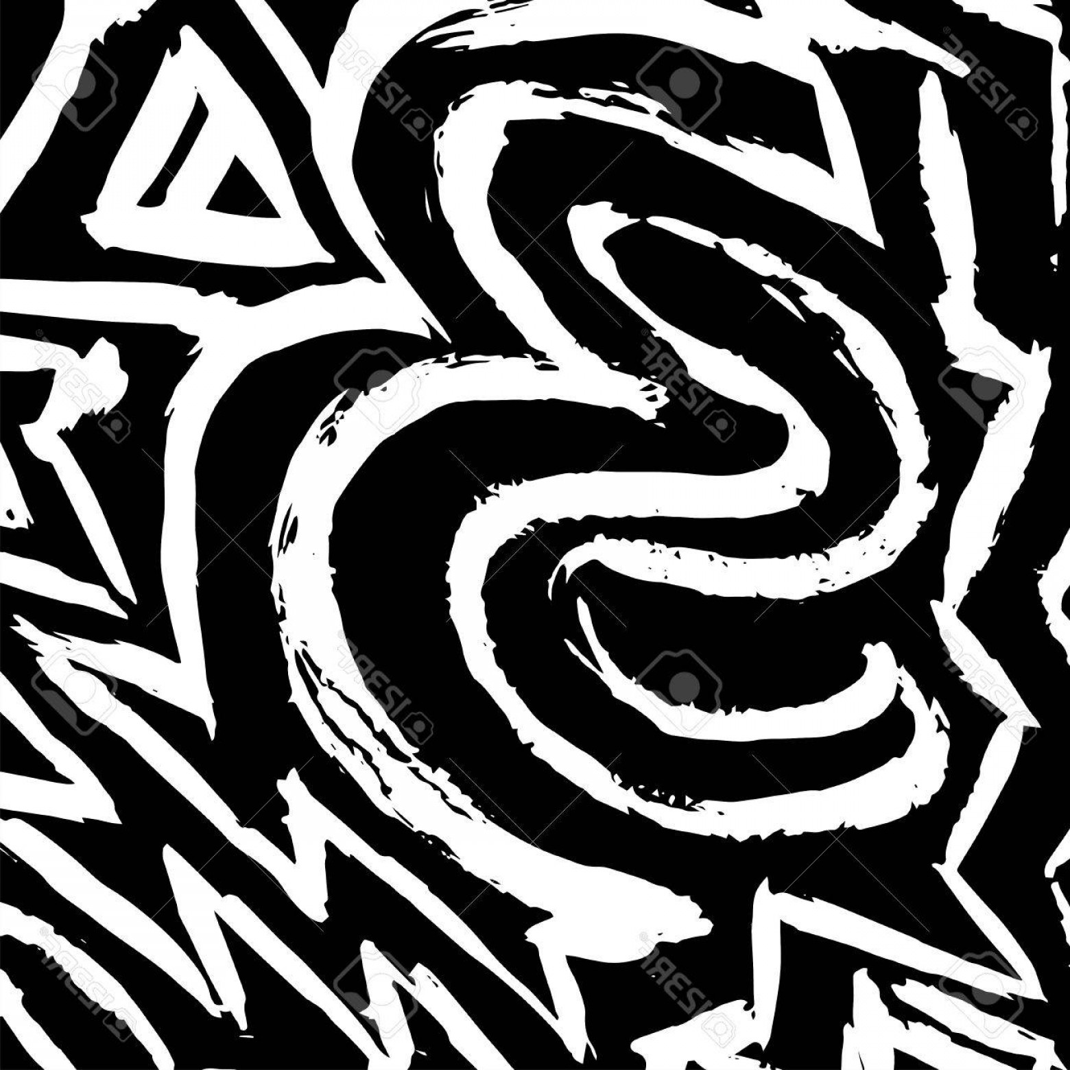 Graffiti Lines Vector: Photostock Vector Graffiti White Lines On A Black Background Vector Illustration