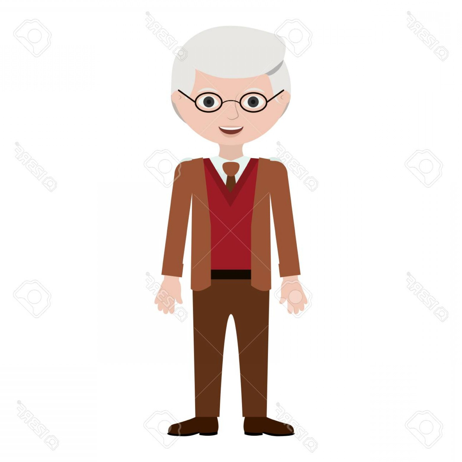 Old Male Icon Vector: Photostock Vector Grandfather Cartoon Icon Old Person Man Male And Avatar Theme Isolated Design Vector Illustration