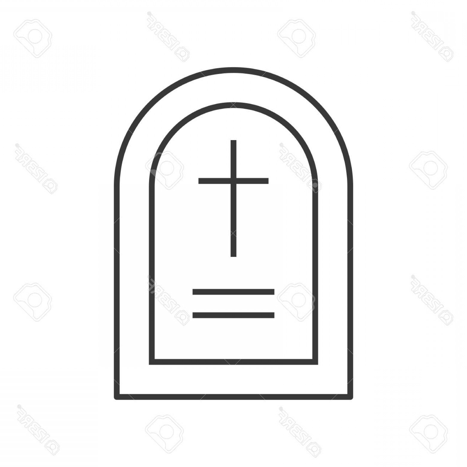 Gravestone Outline Vector: Photostock Vector Gravestone Halloween Related Hollow Outline Icon Editable Stroke