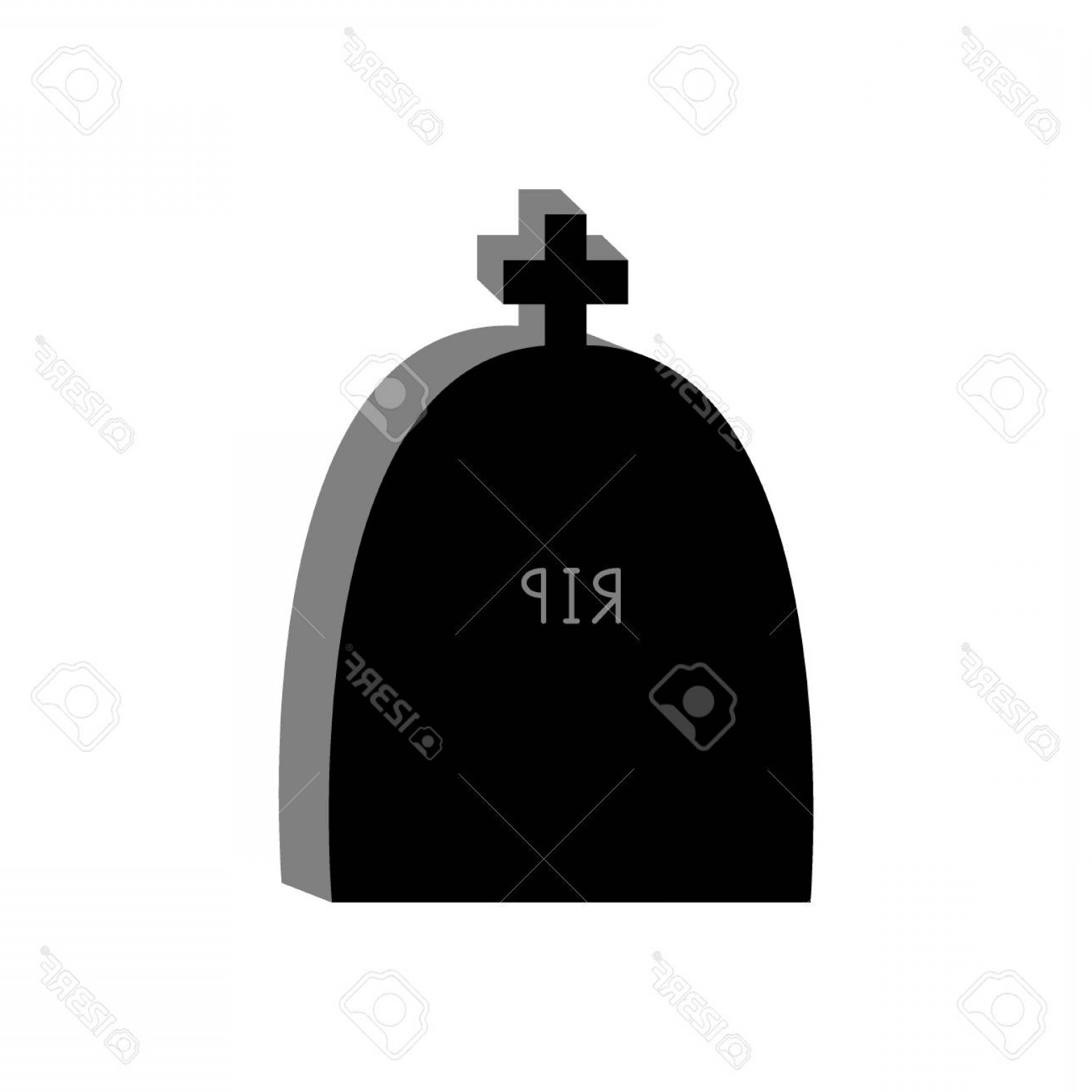 Gravestone Black And Whit Vector JPEG: Photostock Vector Gravestone Icon Grave Stone Black And White Vector Illustration