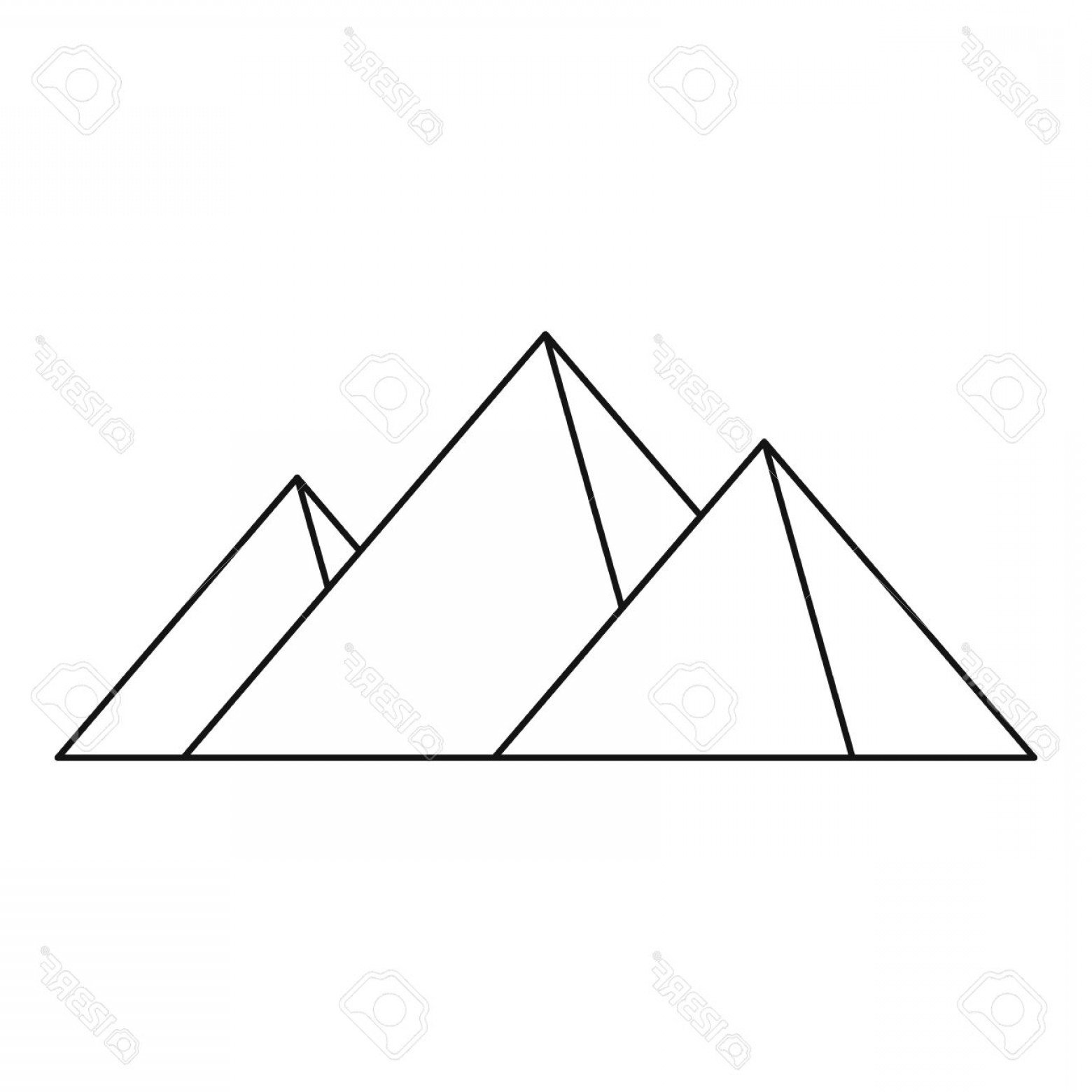 Piramids Vector Art: Photostock Vector Great Pyramids Icon Outline Illustration Of Geat Pyramids Vector Icon For Web
