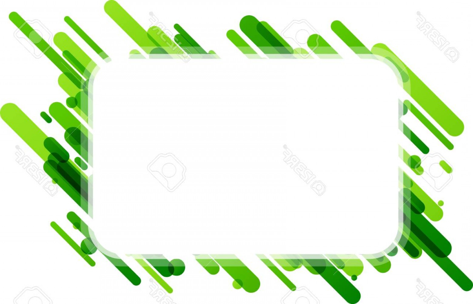 Green And White Vector: Photostock Vector Green Rectangular Abstract Background On White Vector Paper Illustration
