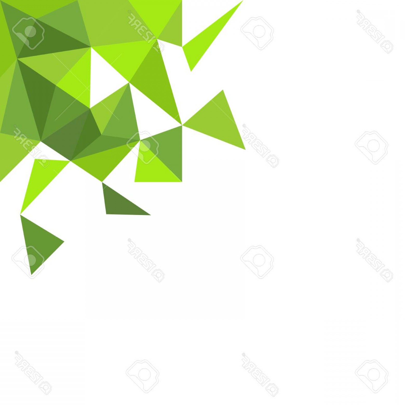 Green And White Vector: Photostock Vector Green Triangle On White Vector Background
