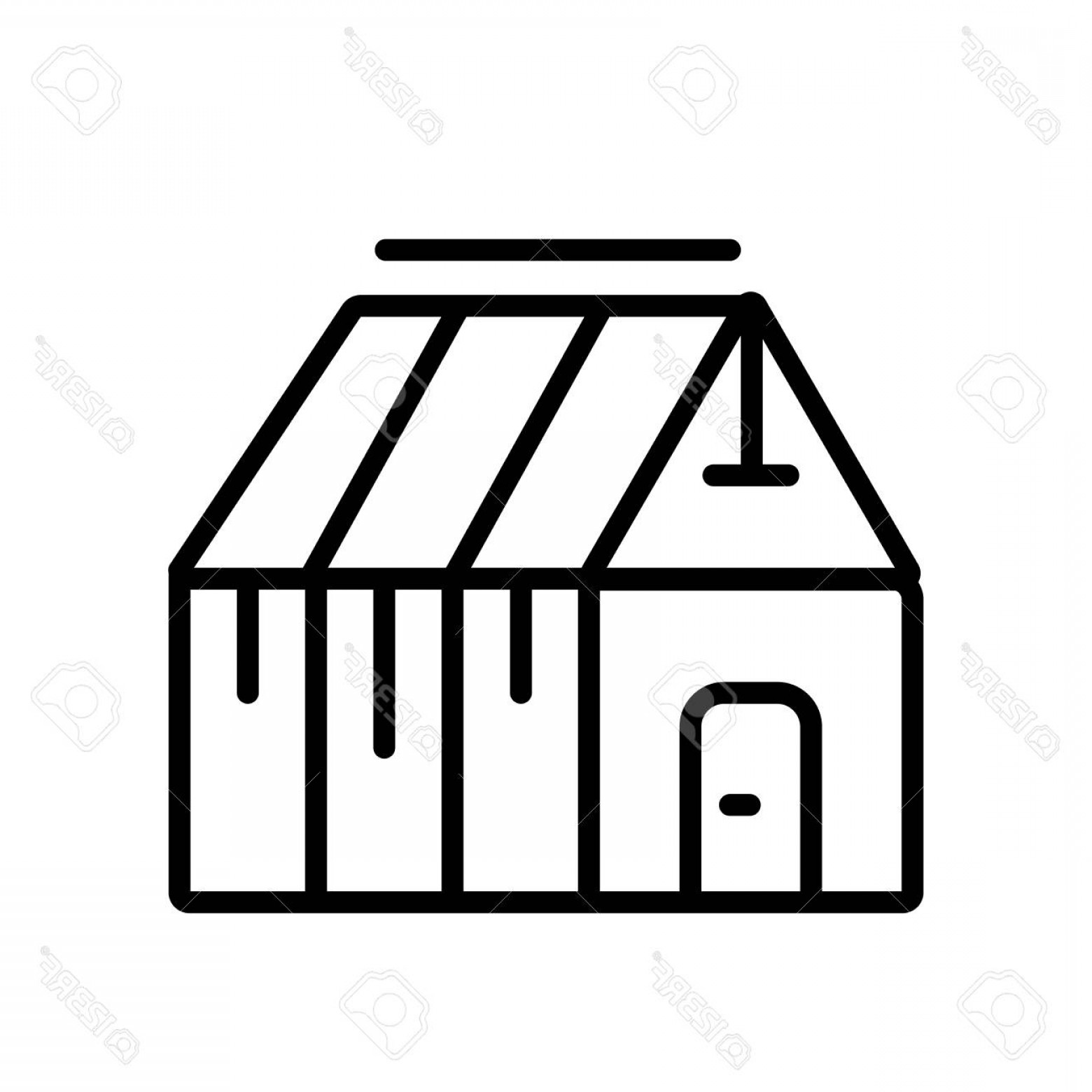 Black And White Vector Greenhouse: Photostock Vector Greenhouse Icon Vector Isolated On White Background Greenhouse Transparent Sign Line Or Linear Sign