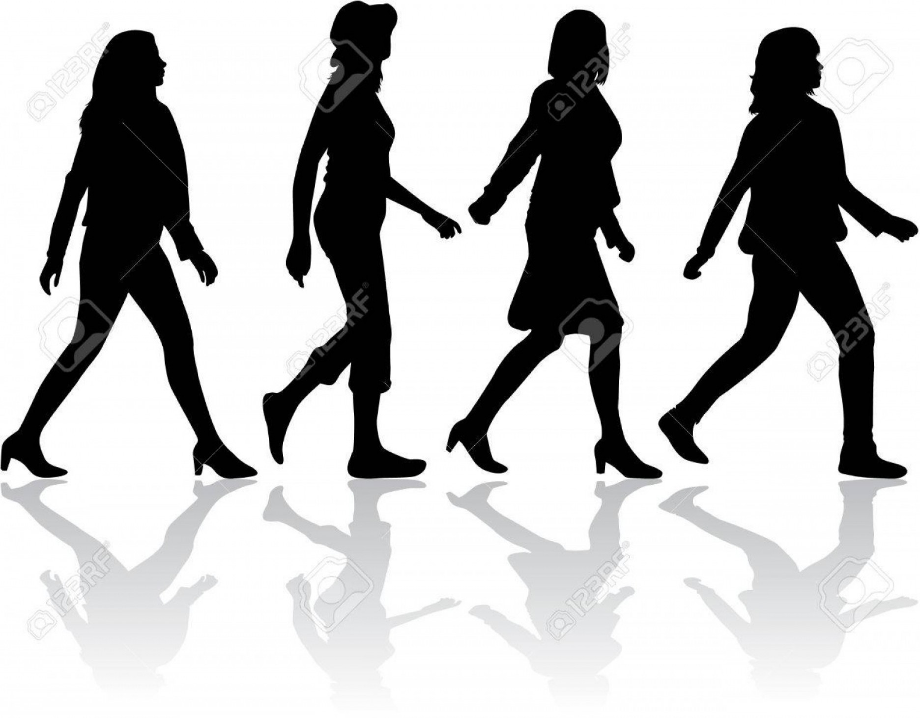 Sillouhette Vector Group: Photostock Vector Group Of People Crowd Of People Silhouettes