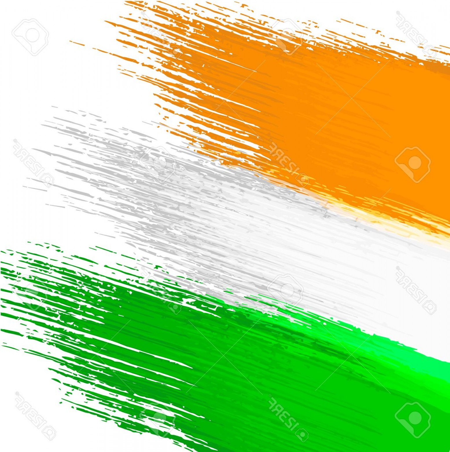 India Flag Vector: Photostock Vector Grunge Background In Colors Of Indian Flag
