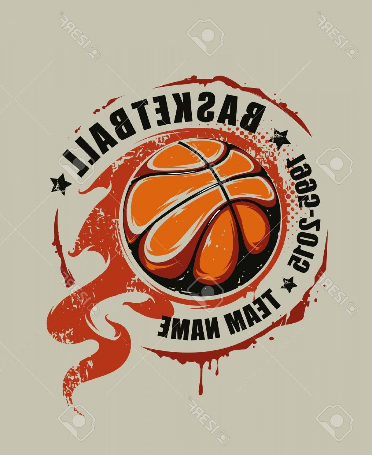 Basketball Vector Graphic Designs: Photostock Vector Grunge Basketball Emblem Flaming Basketball Graffiti Vector Art