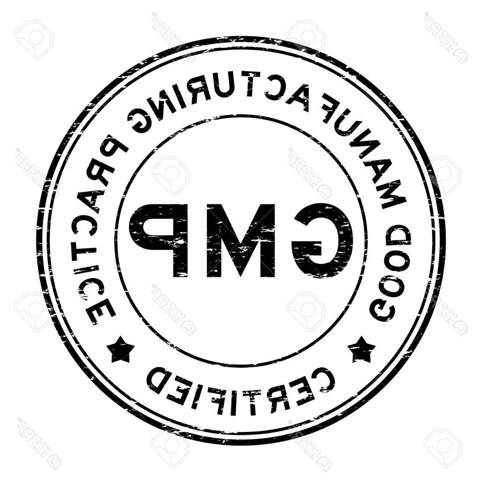 GMP Logo Vector: Photostock Vector Grunge Black Gmp Certified Rubber Stamp