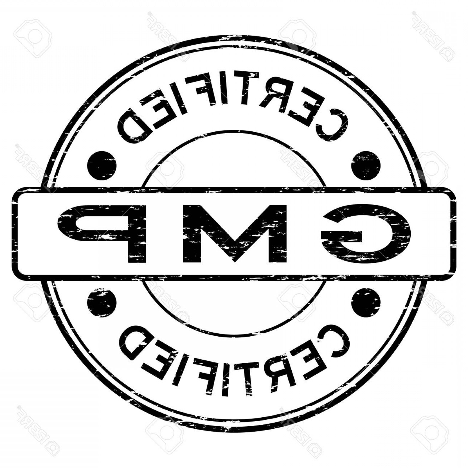 GMP Logo Vector: Photostock Vector Grunge Black Gmp Good Manufacturing Practice Certified Rubber Stamp