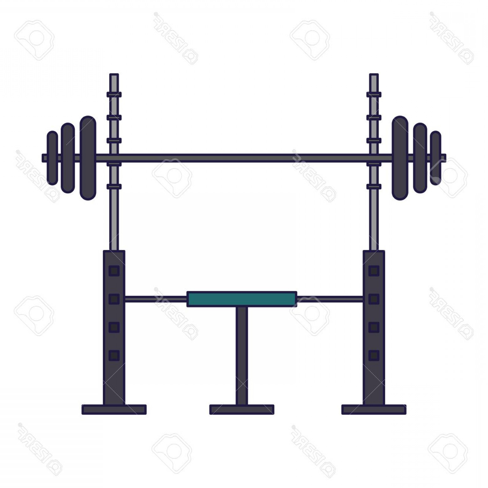 Weight Lifting Vector Graphics: Photostock Vector Gym Chest Weight Lifting Vector Illustration Graphic Design