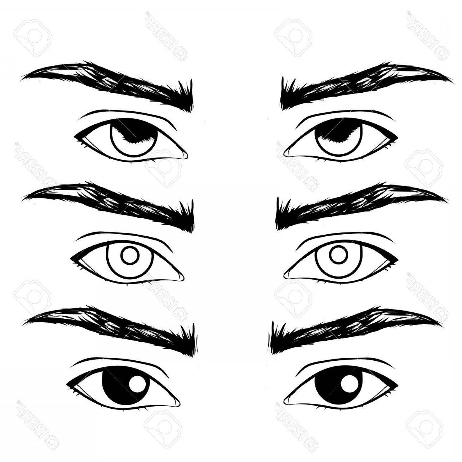 Male Eyes Vector Graphic: Photostock Vector Hand Drawn Men S Eyes