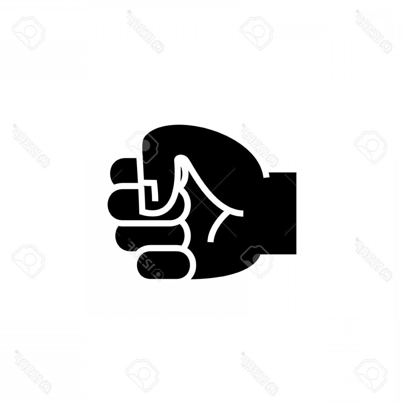 Hand Fist Vector: Photostock Vector Hand Fist Icon Illustration Vector Sign On Isolated Background