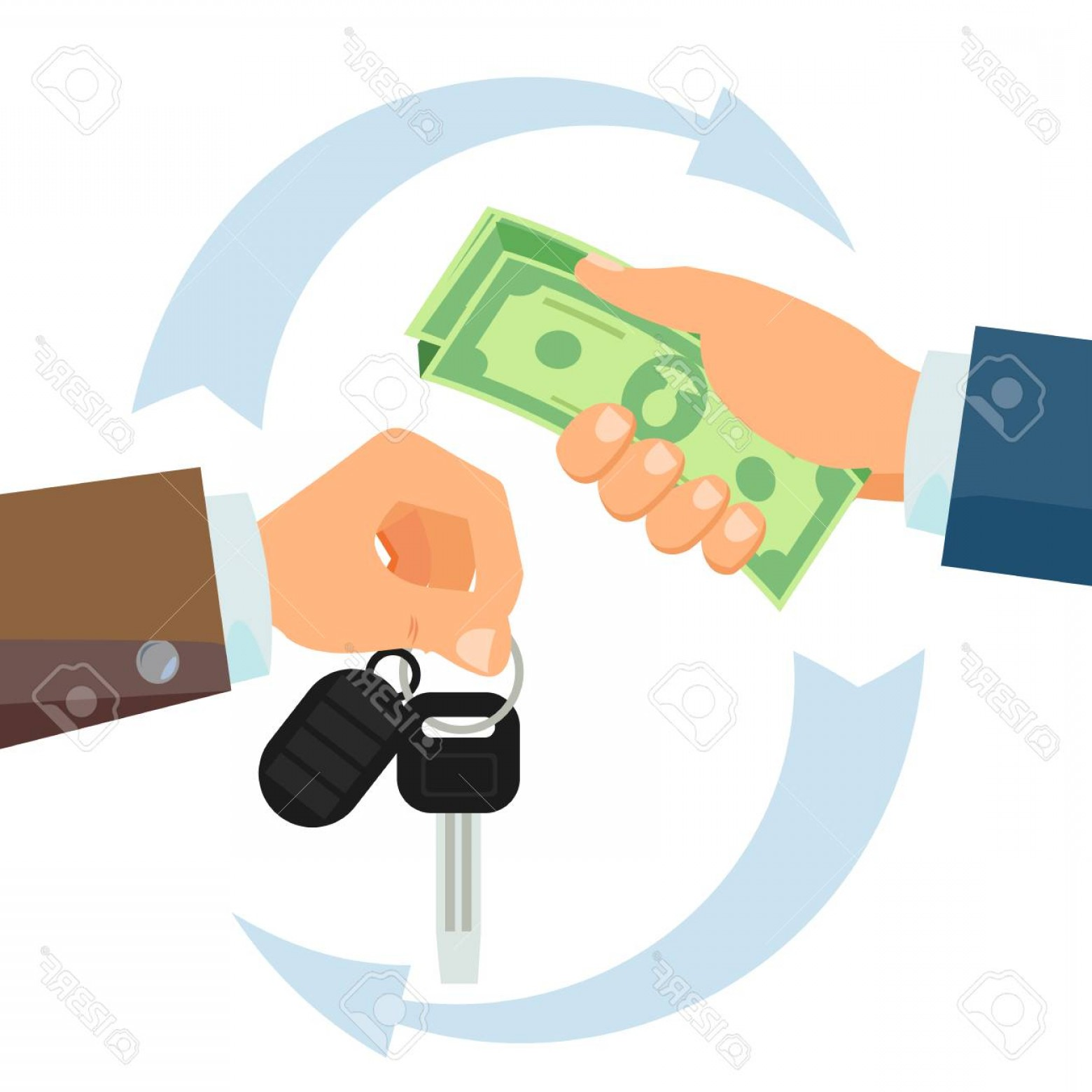 Salesman Vector: Photostock Vector Hand Giving Car Keys Vector Business Car Rental Sale Concept Car Salesman And New Owner Holding Car