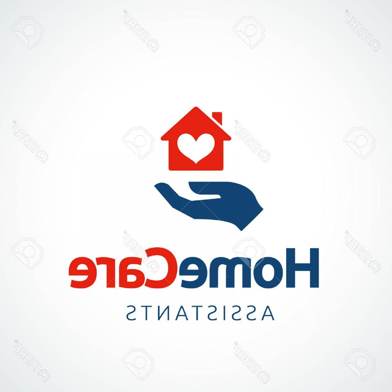 Equal Housing Vector: Photostock Vector Hand Holding A House Symbol With Heart Shape Vector Icon Eps File