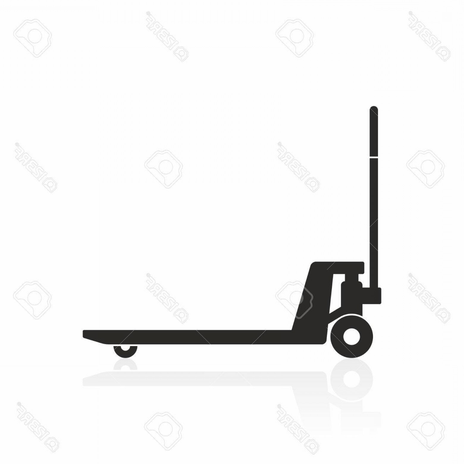 Vector Black Pallet: Photostock Vector Hand Pallet Truck Icon